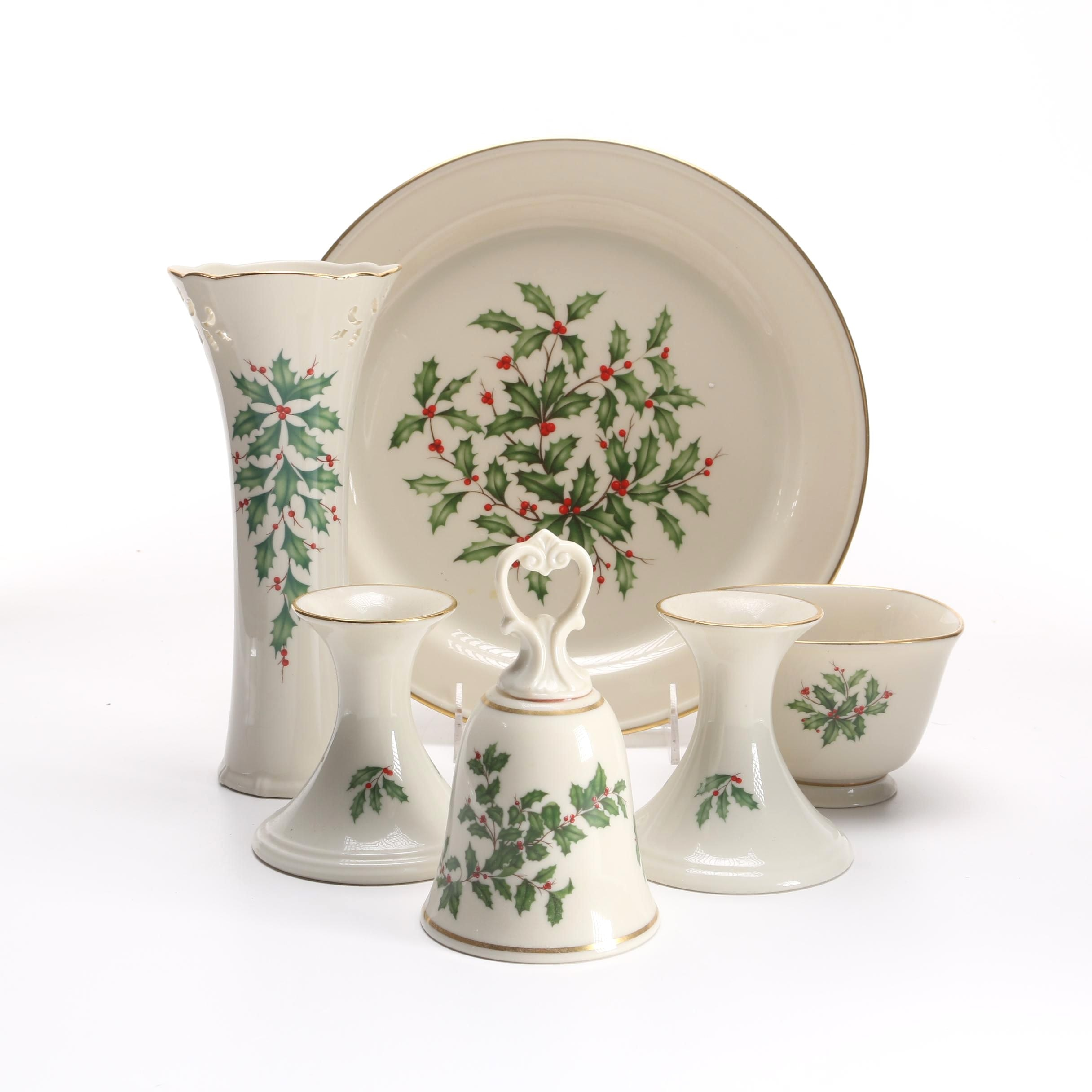 """Selection of """"Holiday"""" Pieces by Lenox"""