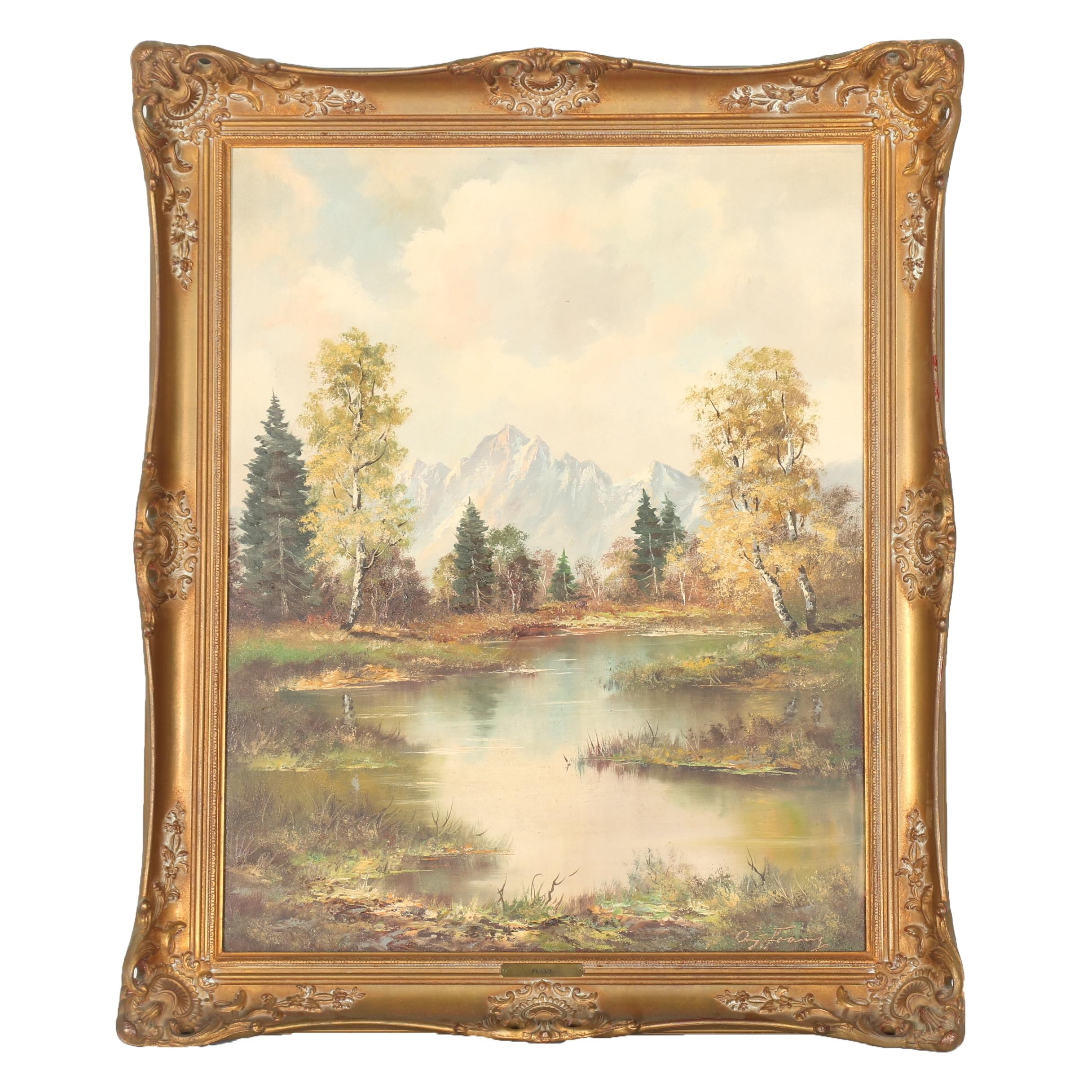 Philipp Franz Landscape Oil on Canvas