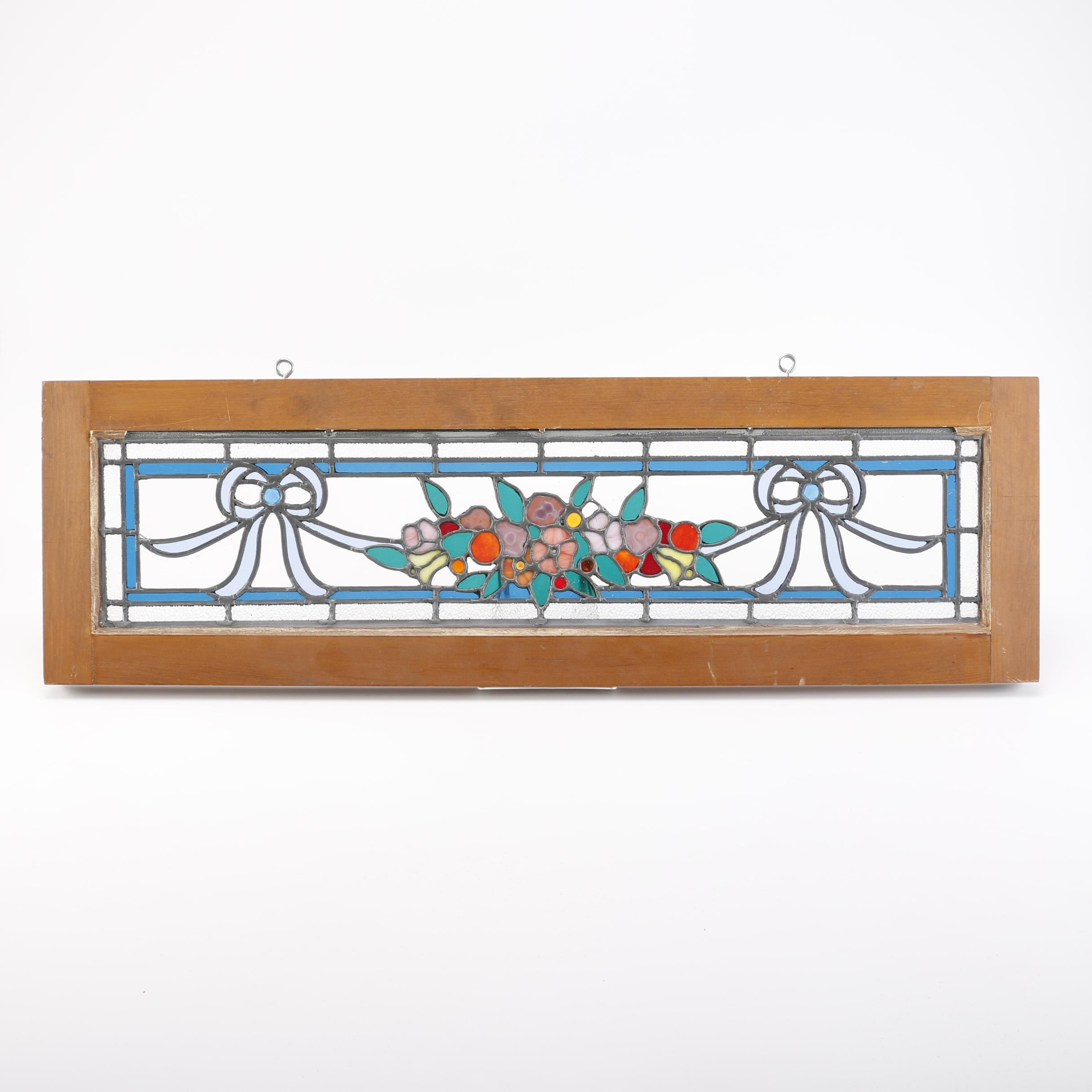Hanging Floral Themed Stained Glass