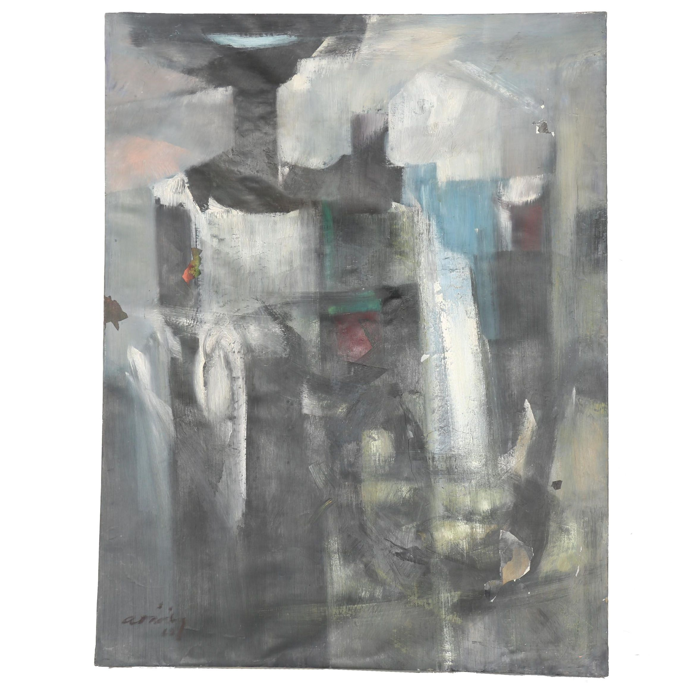 1962 Abstract Oil Painting on Canvas