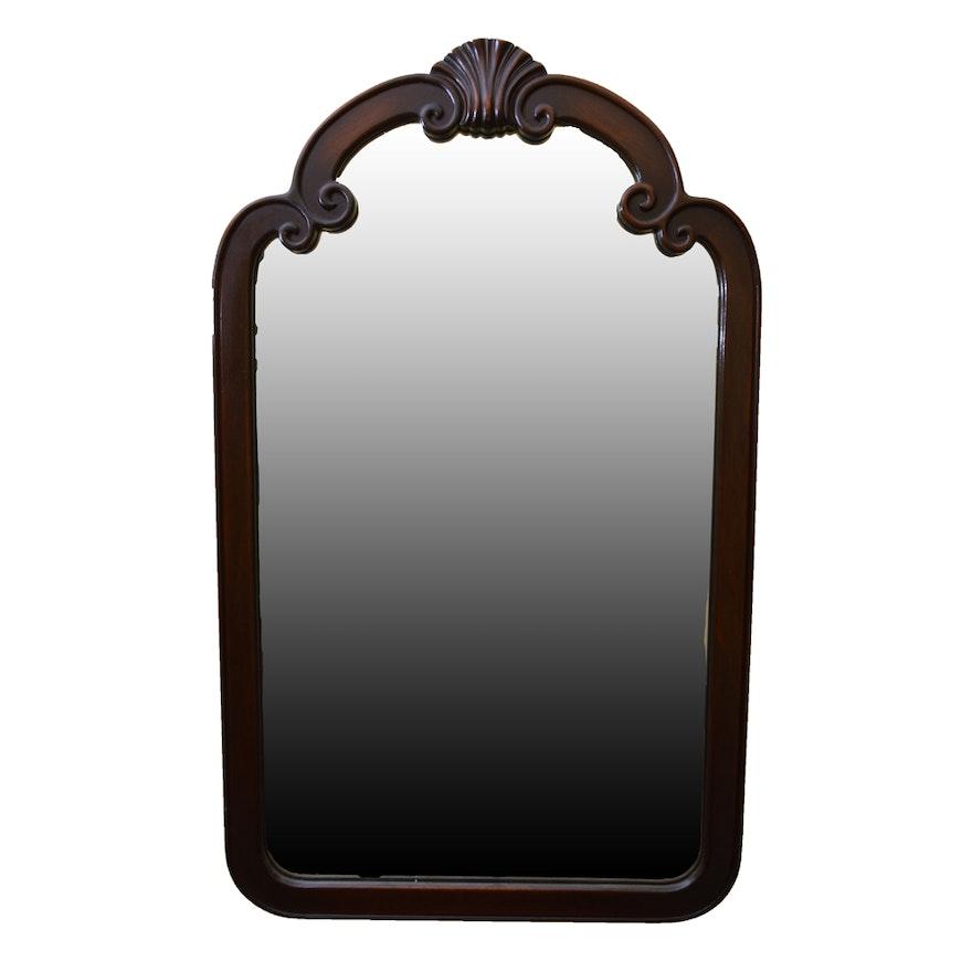 Dark Mahogany Wall Mirror Ebth
