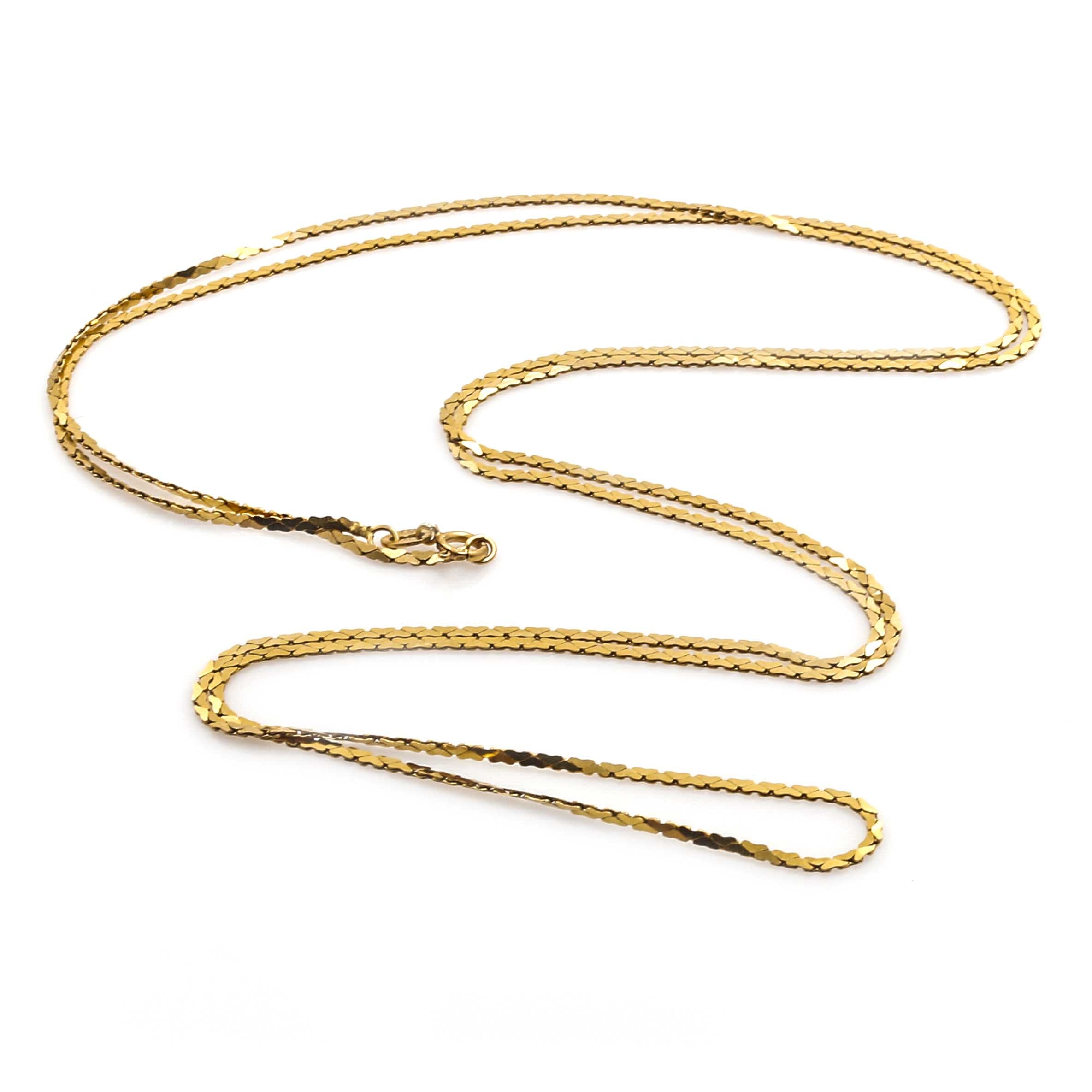 Italian 14K Yellow Gold Cobra Link Chain