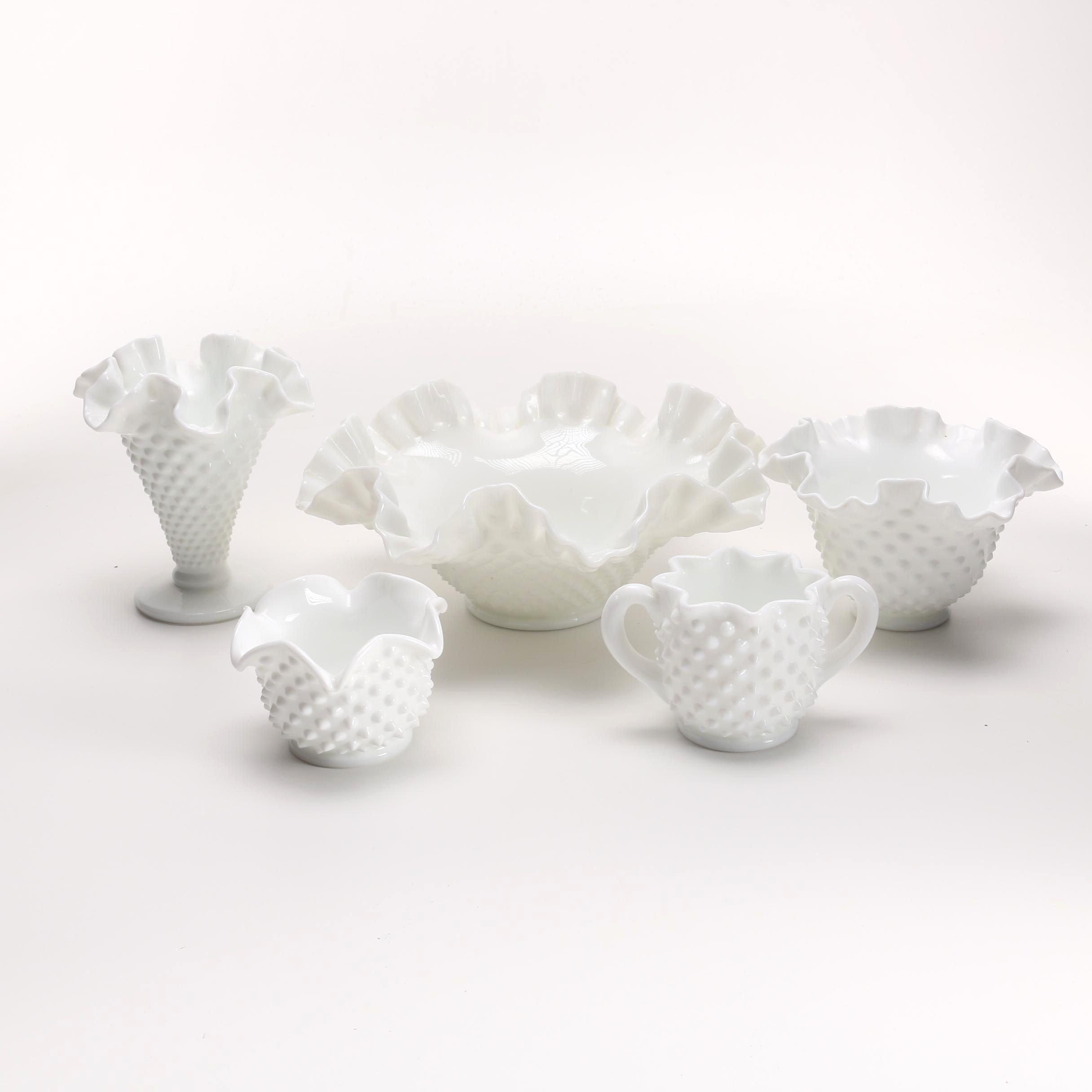 Assortment of Milk Glass