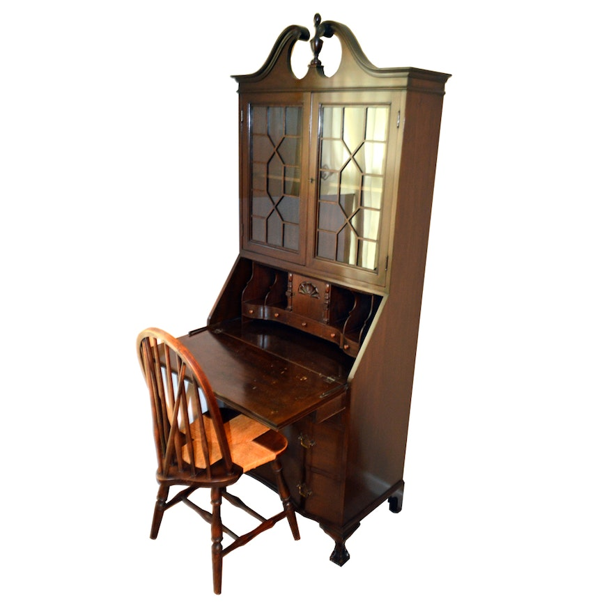 Attractive Early 20th Century Landstrom Furniture Secretary Desk with Chair  IT05