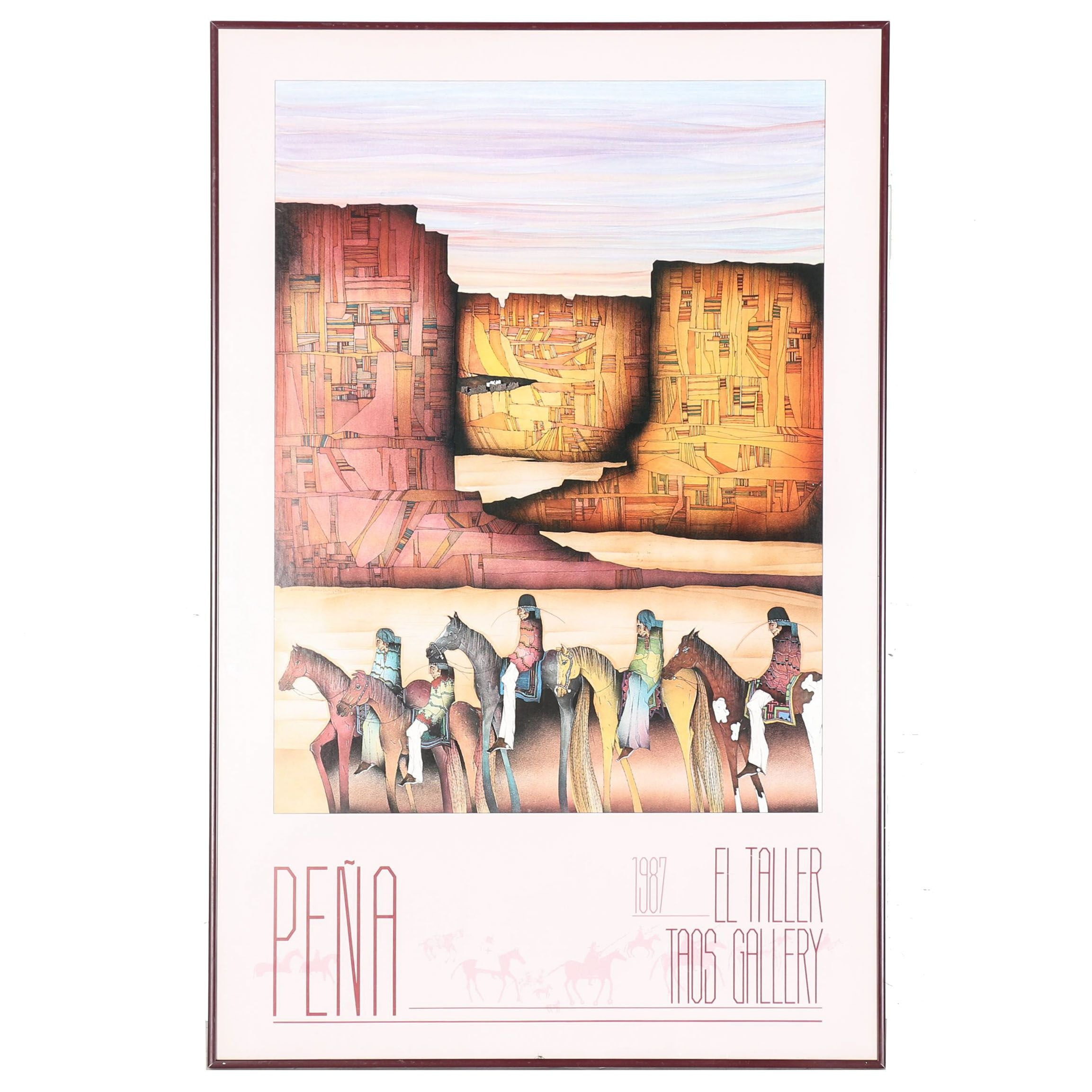 1987 Amado Peña Exhibit Poster