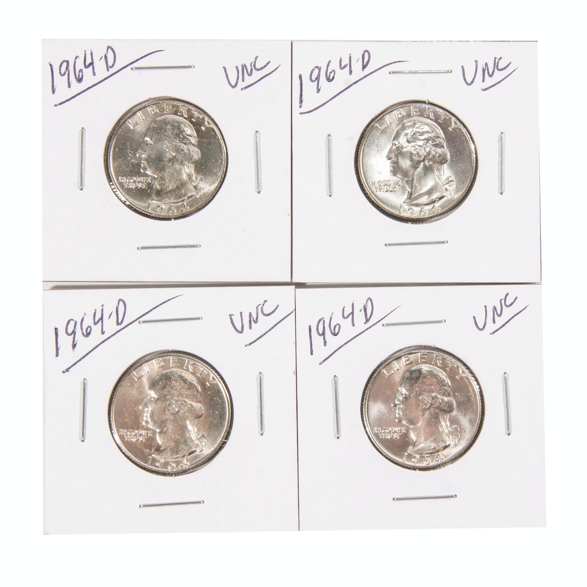 1964-D Washington Silver Quarters