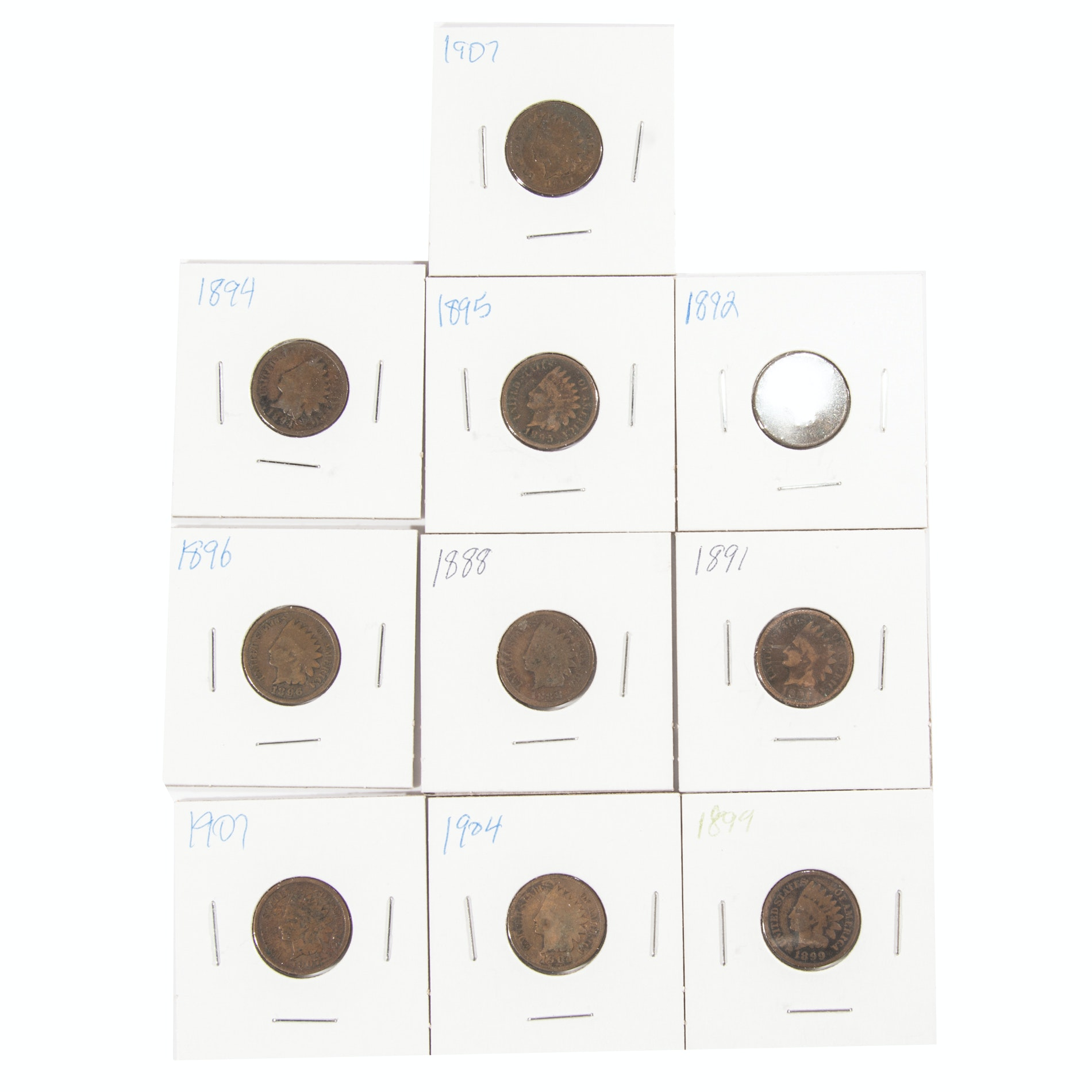 Indian Head One Cent Coins