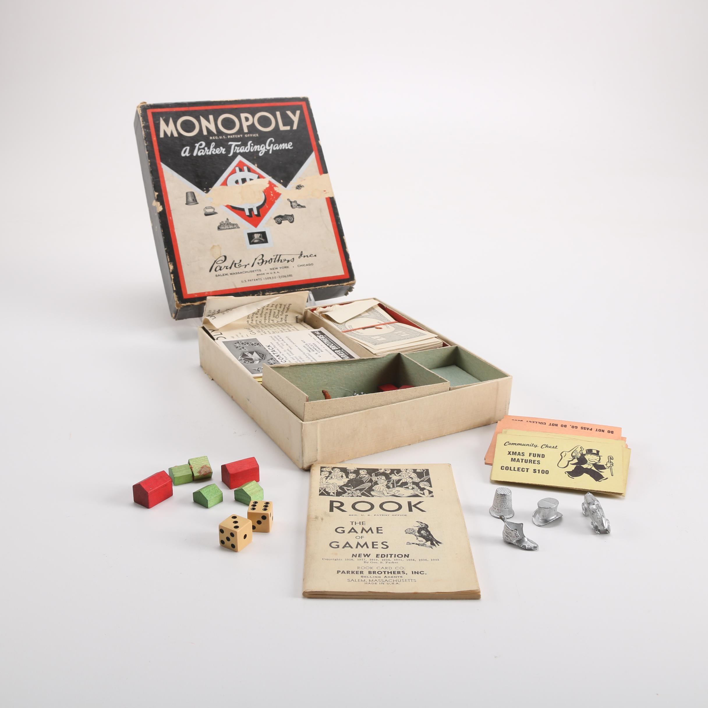 Circa 1943 Monopoly Game