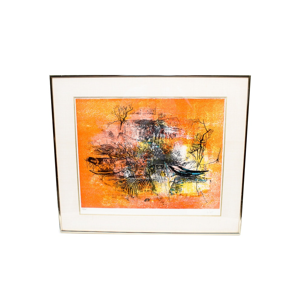 "Hoi Lebadang Limited Edition Lithograph ""Cascade"""