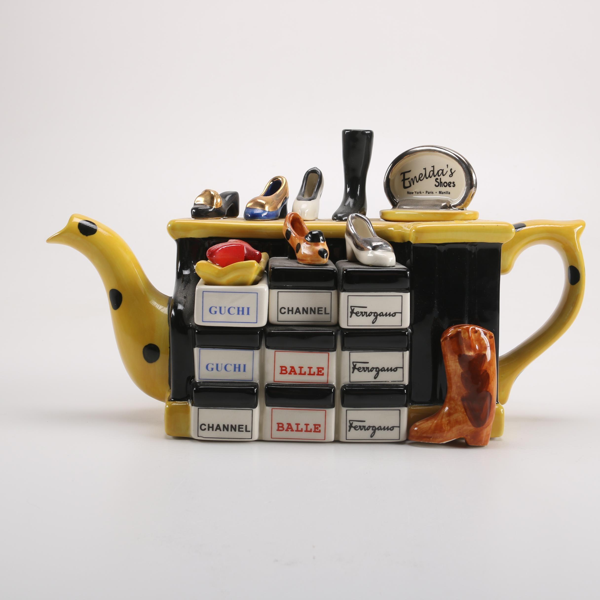 Tony Carter Shoe Teapot