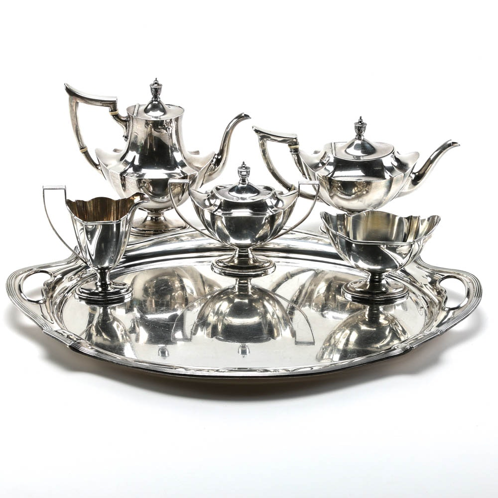 "Gorham ""Plymouth"" Sterling Silver Coffee & Tea Service 183.49 ozt"