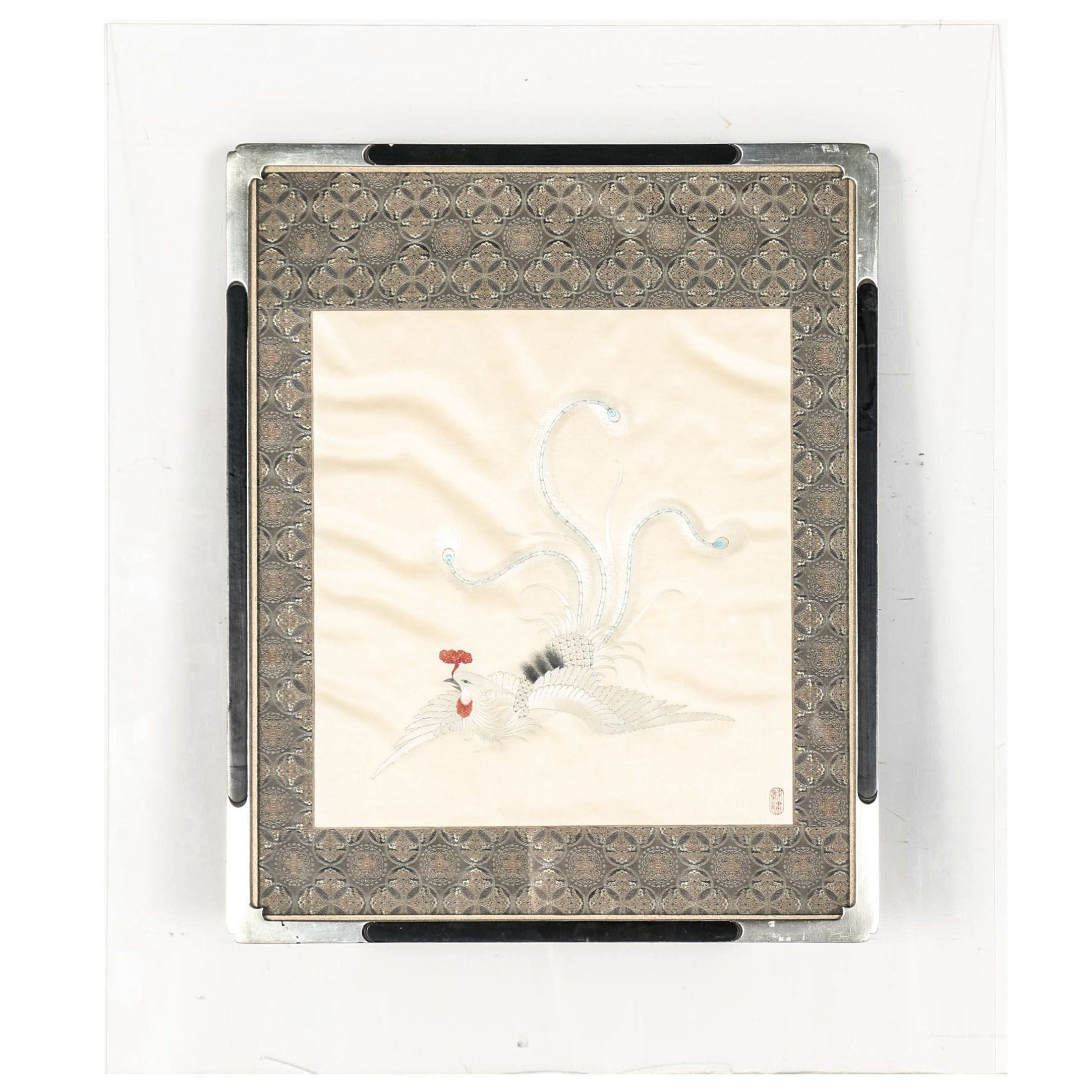 Chinese Silk Textile of Rooster