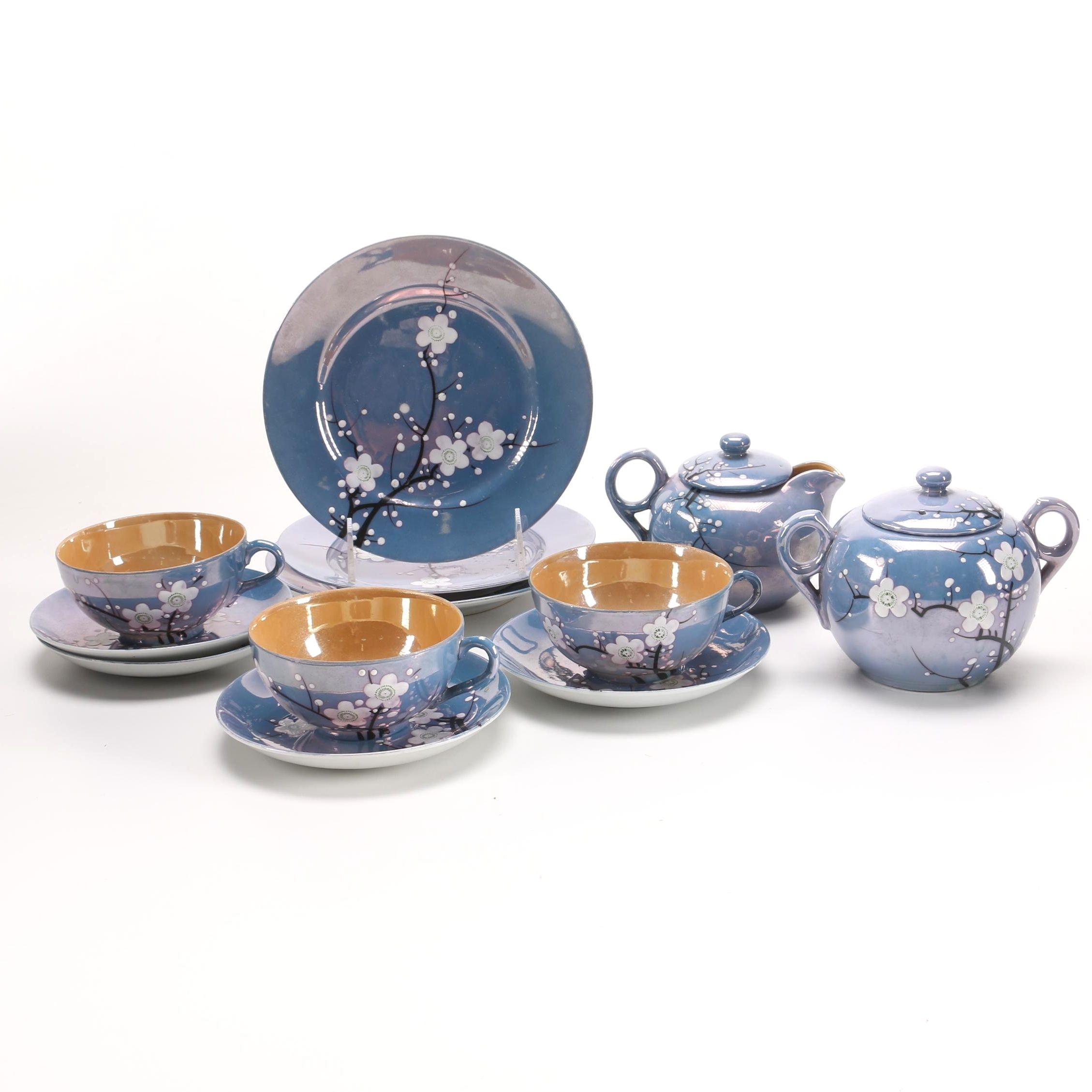 RS Japan Hand-Painted Lusterware Tea Set
