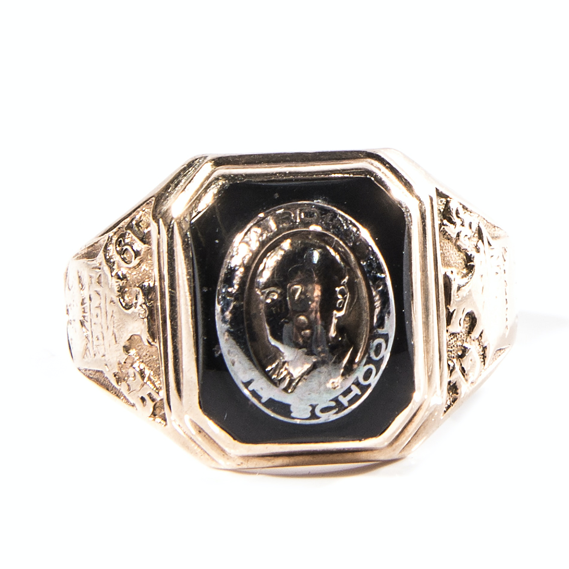 Vintage 1935 10K Gold and Black Onyx Class Ring