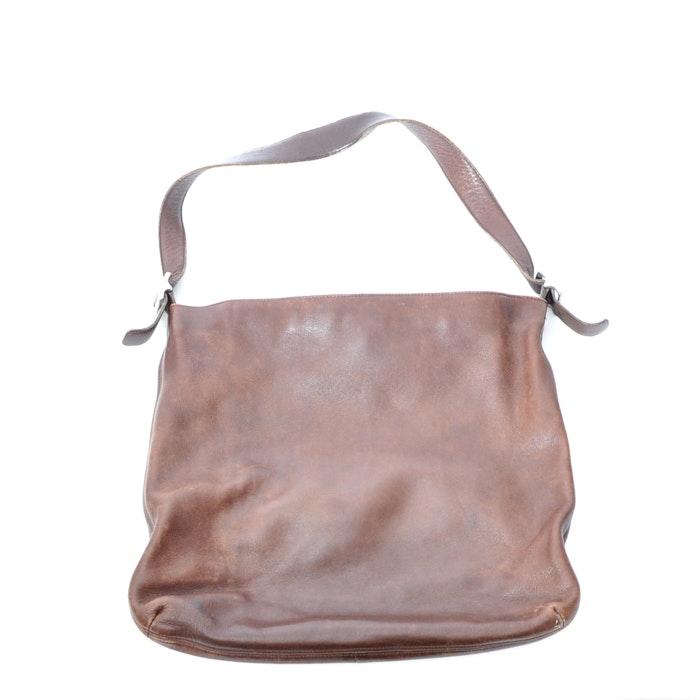 Brown Leather Coach Shoulder Bag