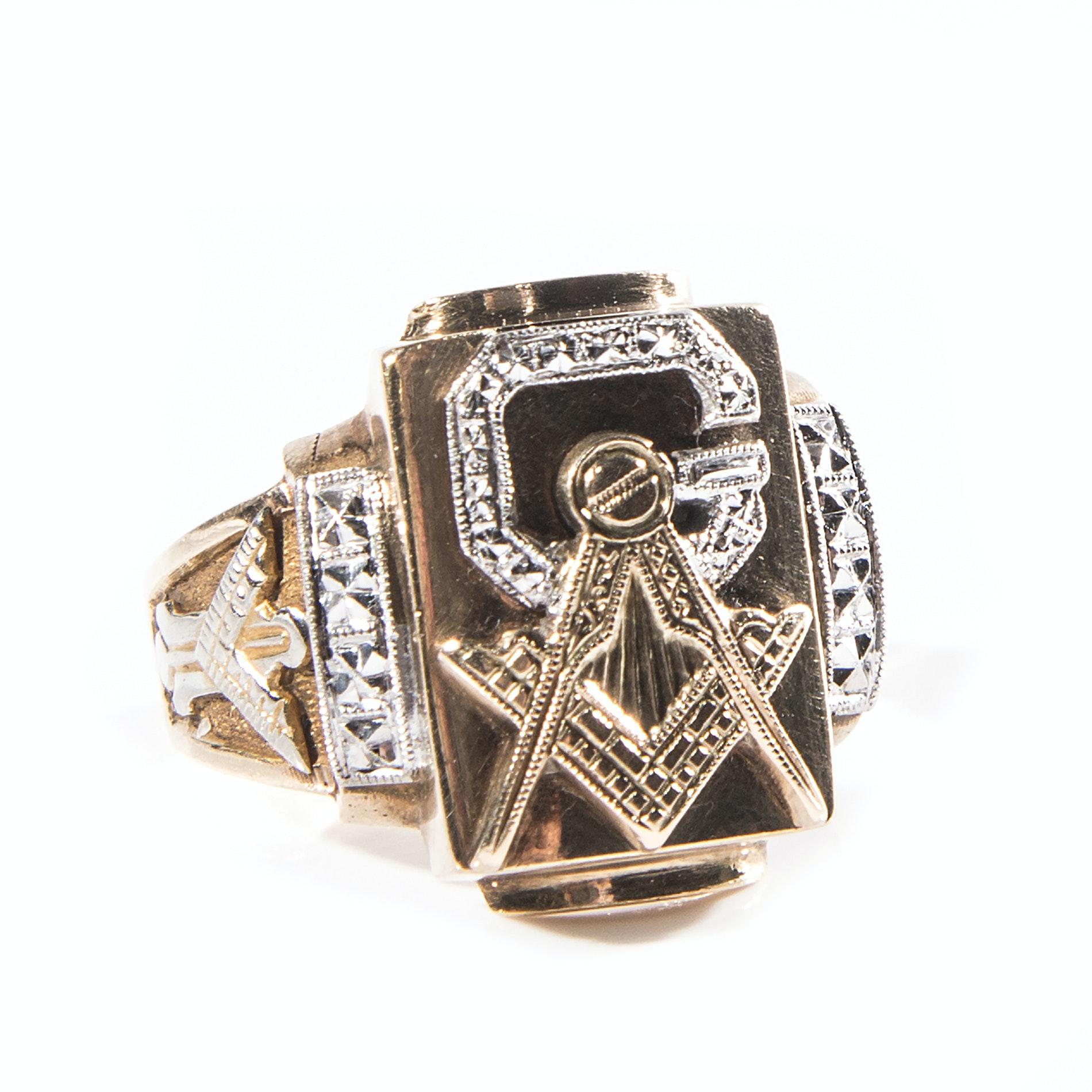 Men's 10K Gold Masonic Ring