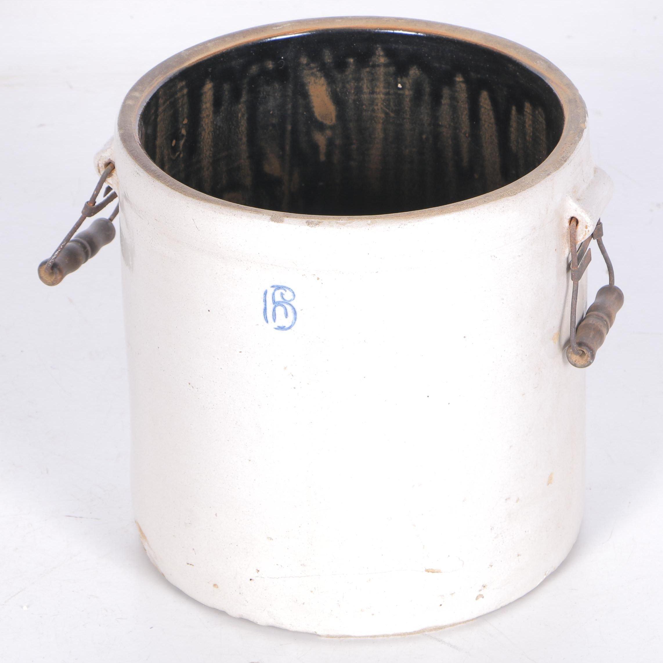 Mid 20th Century Stoneware Crock