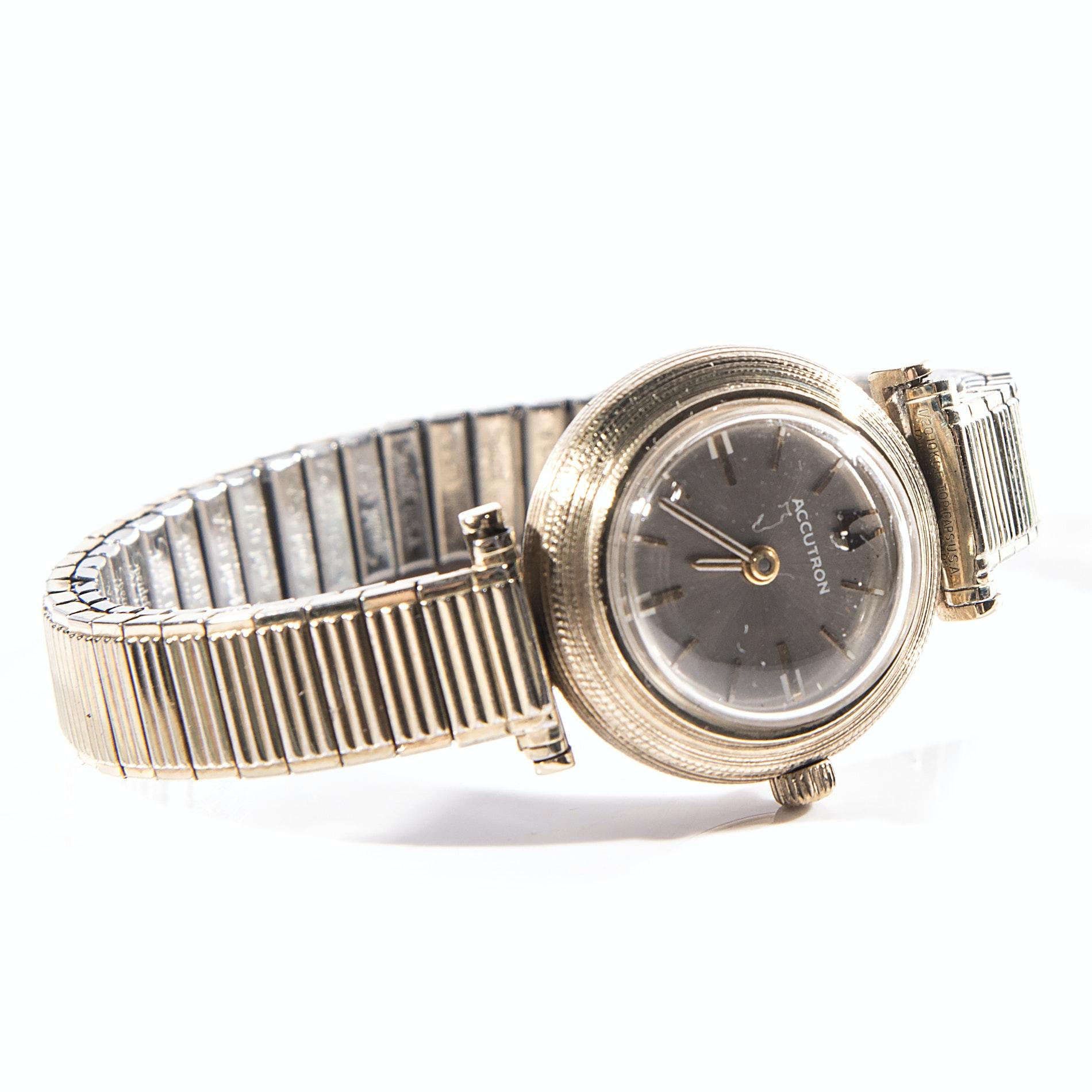 Vintage 14K Gold Bulova Accutron Wristwatch
