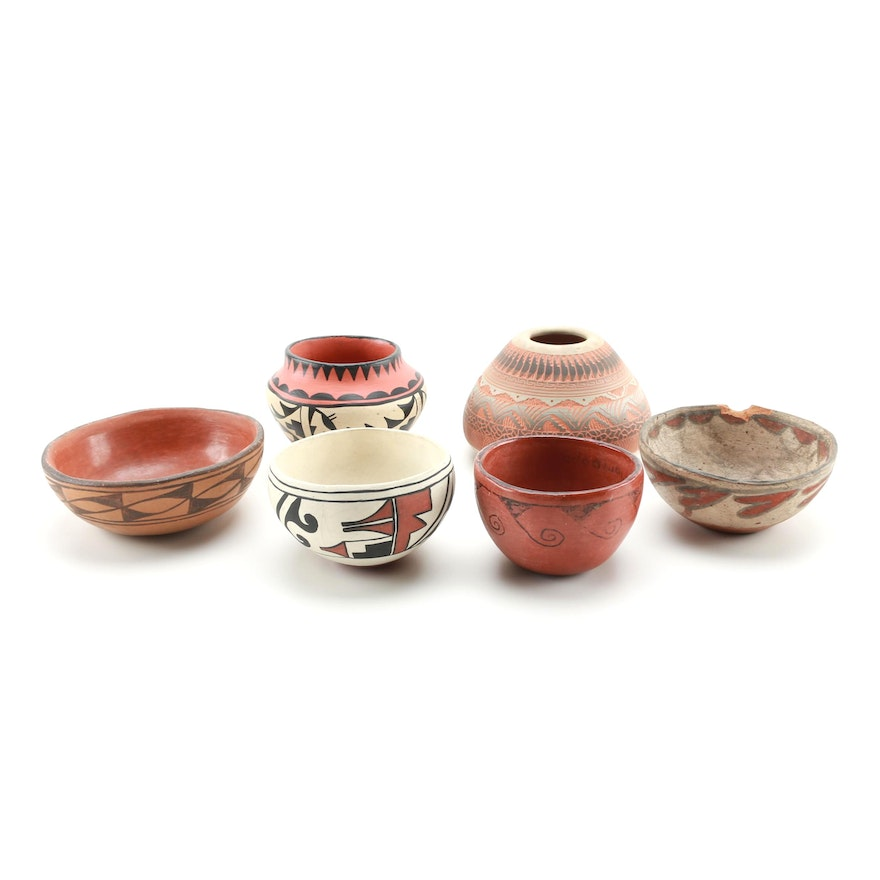 Group of Pottery, including Native American Pots : EBTH