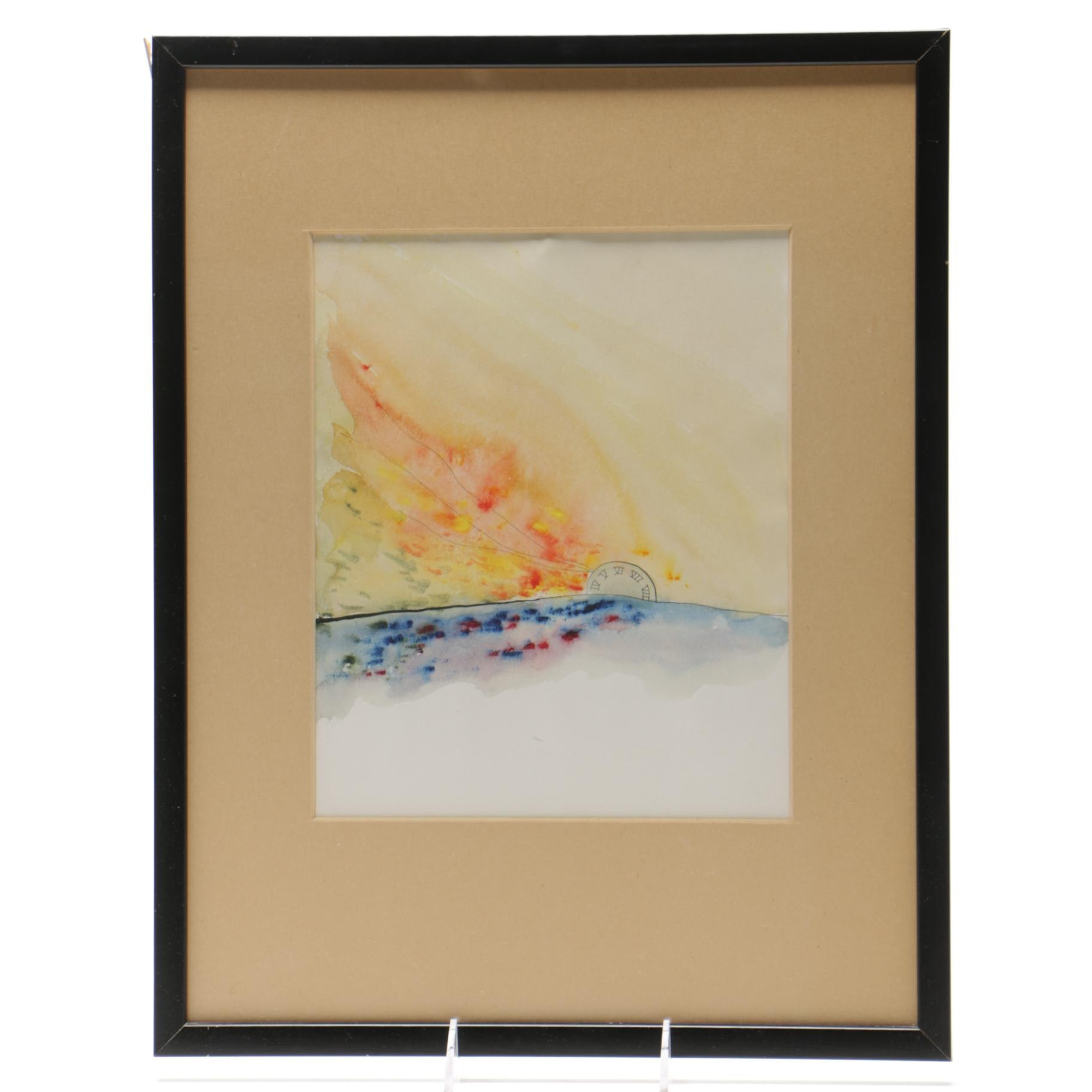 Paul Hallock Watercolor on Paper
