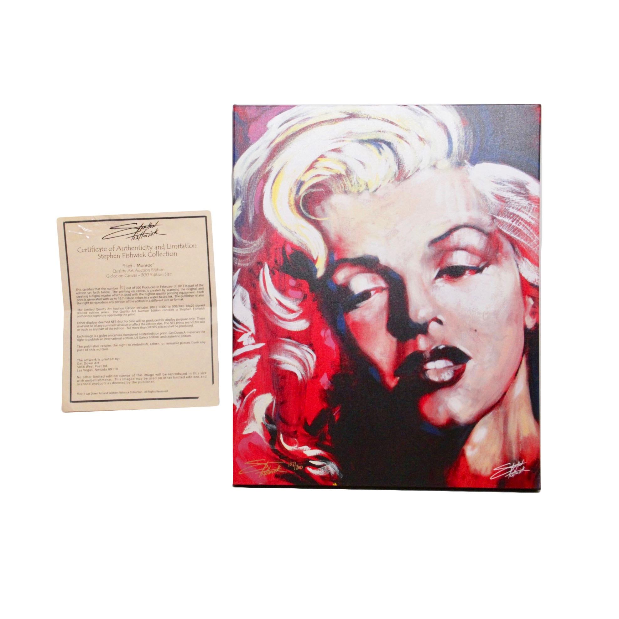 "Stephen Fishwick Limited Edition Giclée ""Hot- Monroe"""