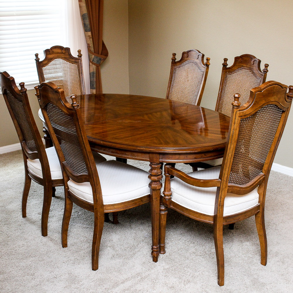 Genial Drexel Heritage Dining Table And Chairs ...