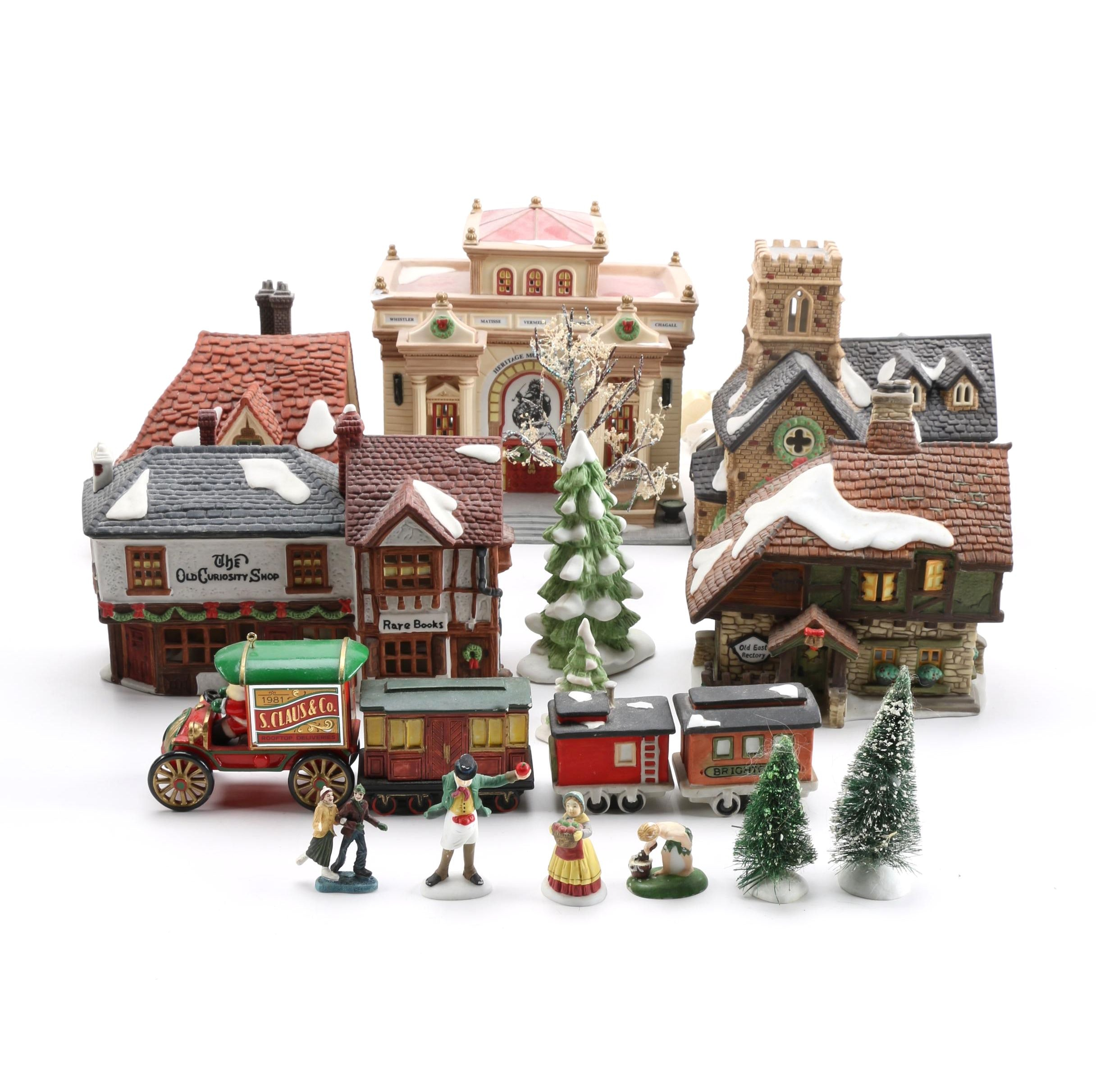Holiday Villiage Decor Including Department 56.