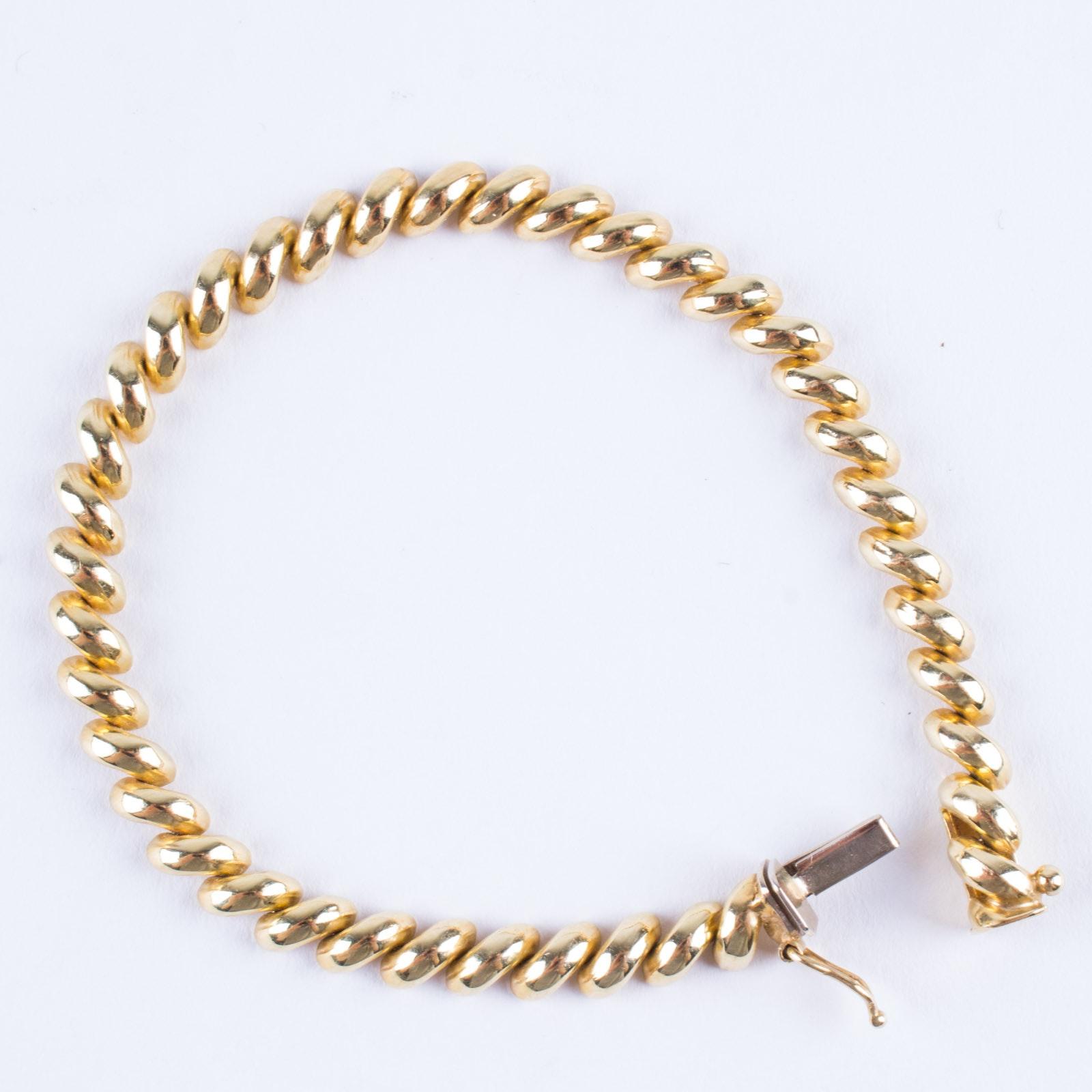 14K Gold San Marino Chain Bracelet