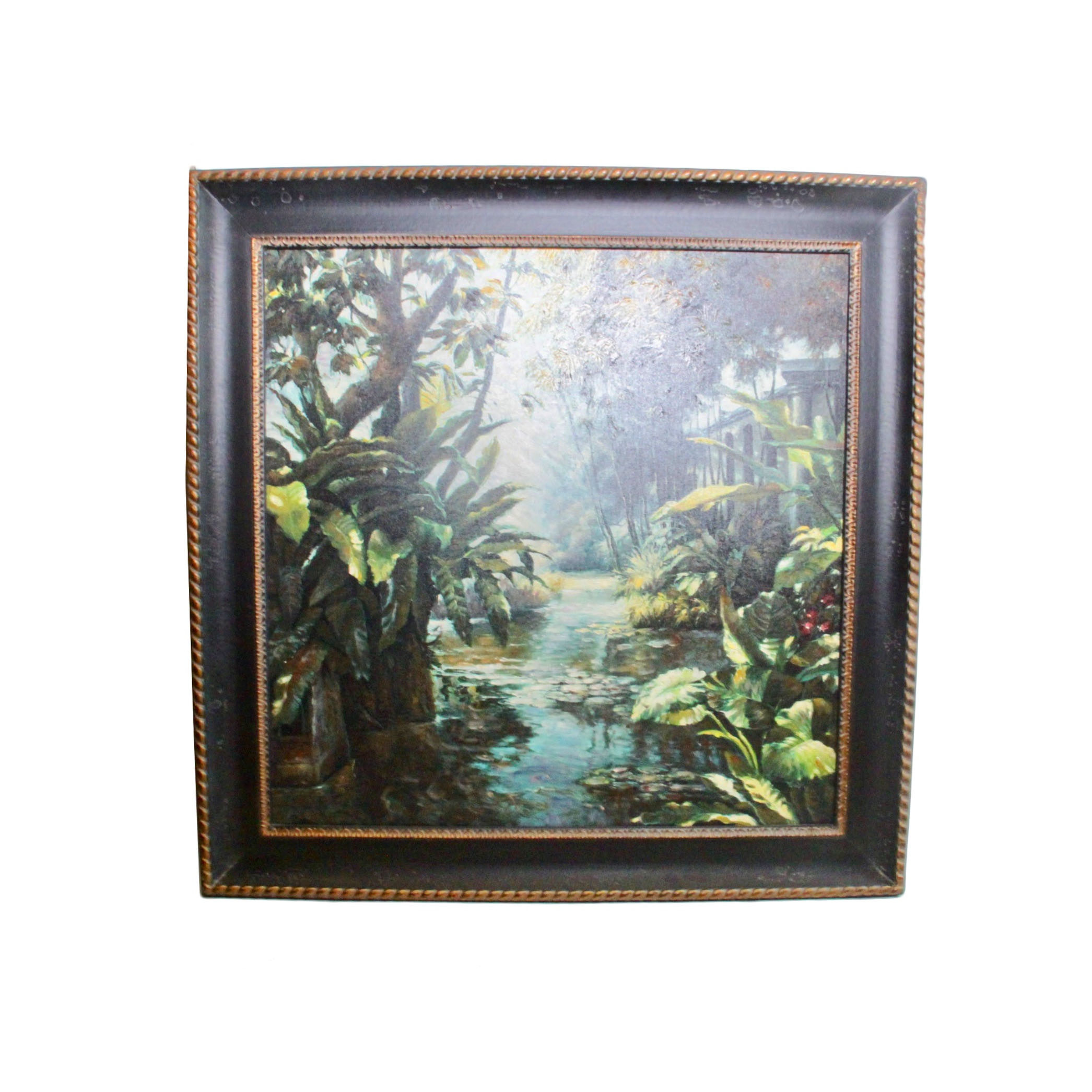 Acrylic on Canvas Painting of Tropical Landscape