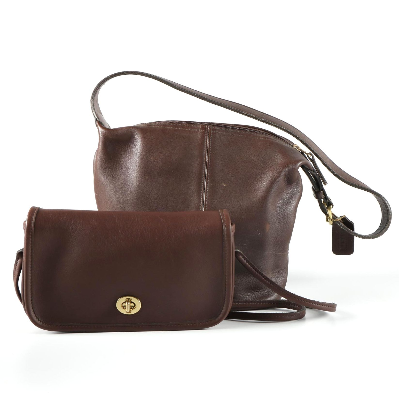 Vintage Brown Leather Coach Bags