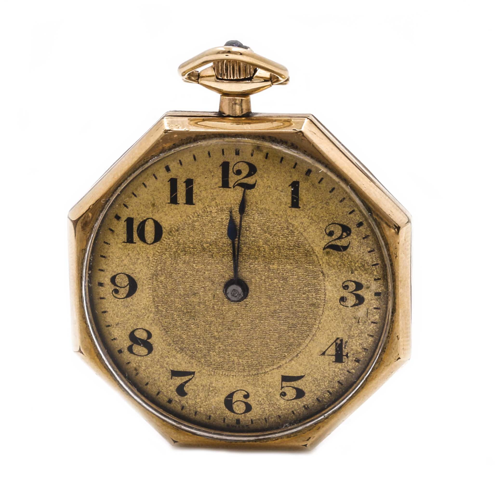 Gold Filled Elgin Swiss Octagonal Pocket Watch