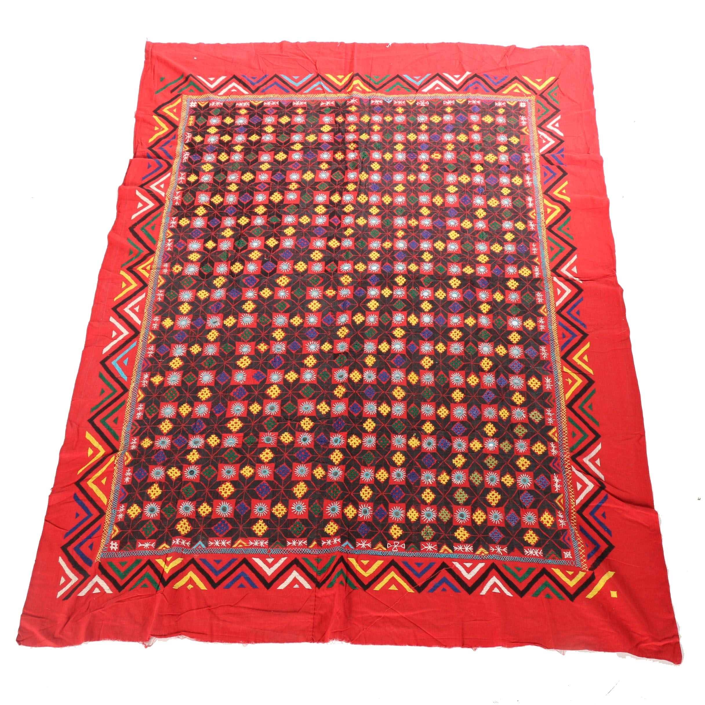 Vintage Hand Embroidered Suzani Textile