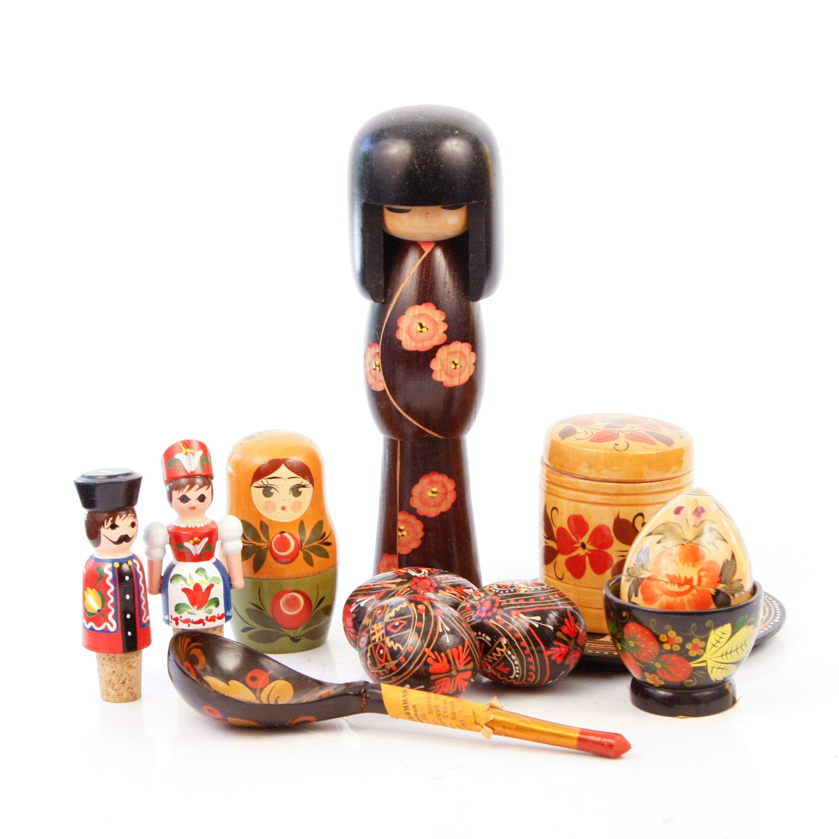 Collection of Vintage Russian Lacquerware
