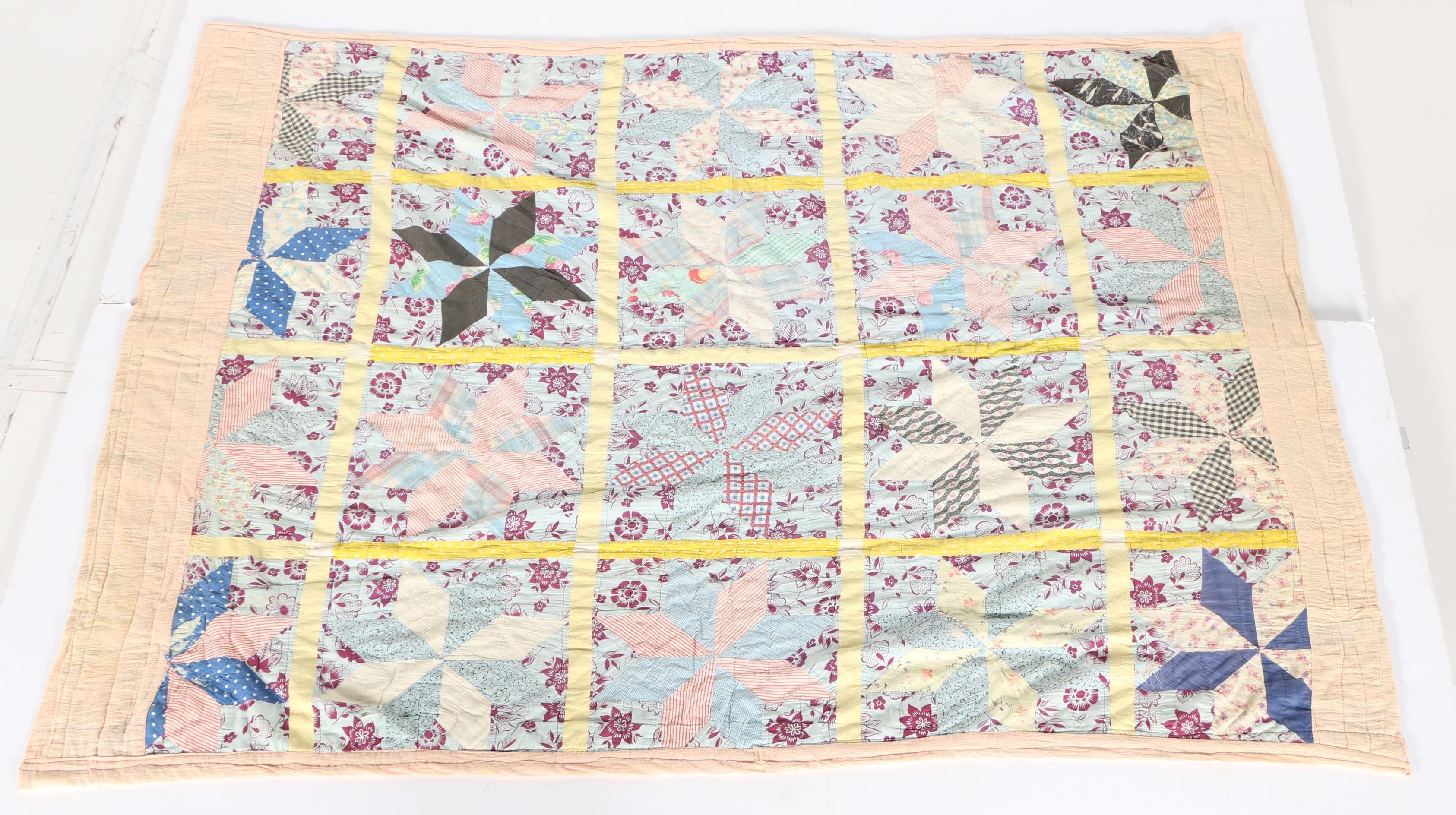 Hand Made Lemoyne Star Quilt