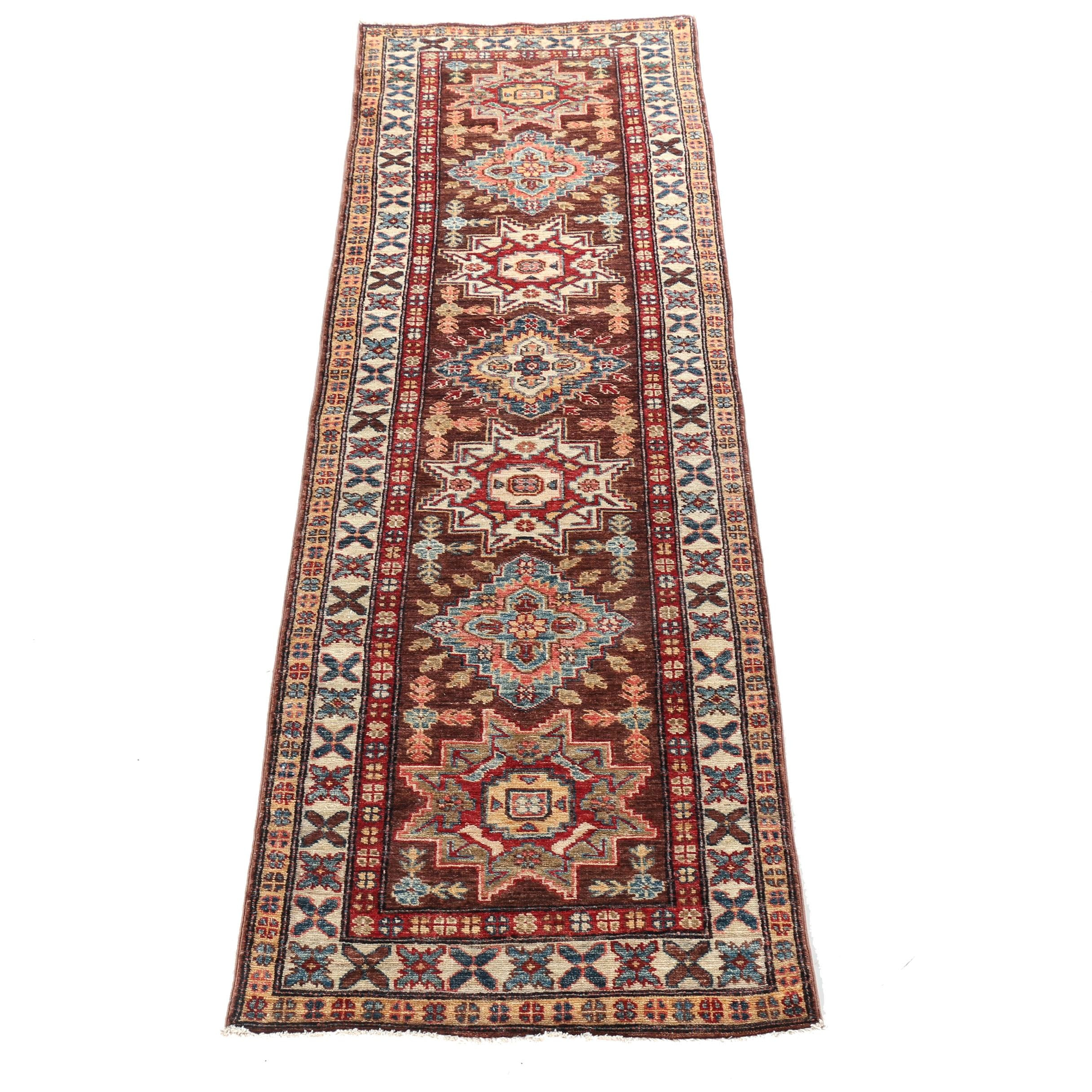 Hand-Knotted Caucasian Carpet Runner