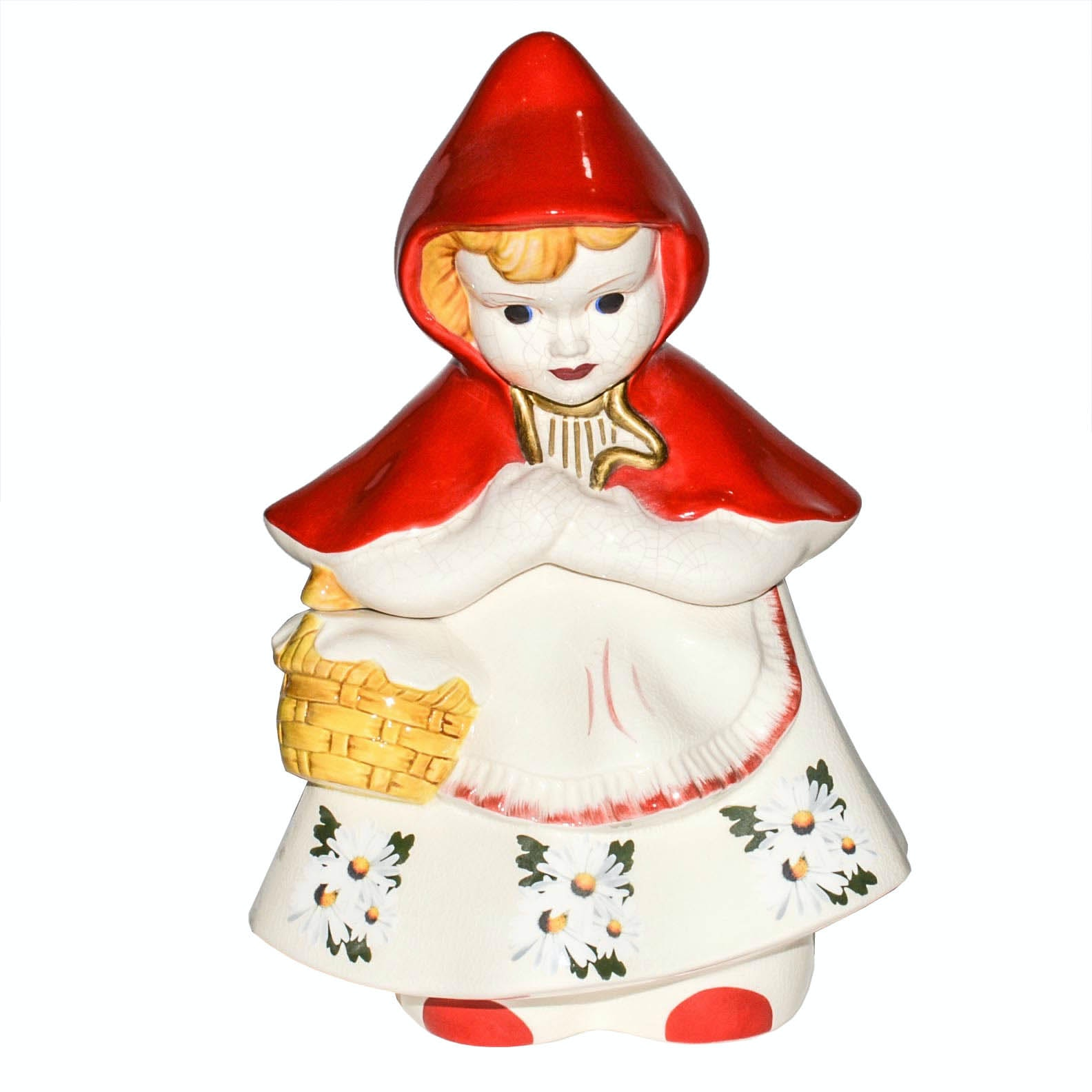 Vintage McCoy Little Red Riding Hood Cookie Jar