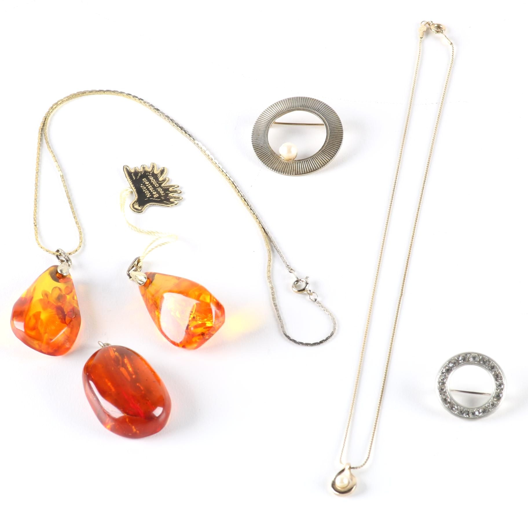 Pearl and Amber Jewelry