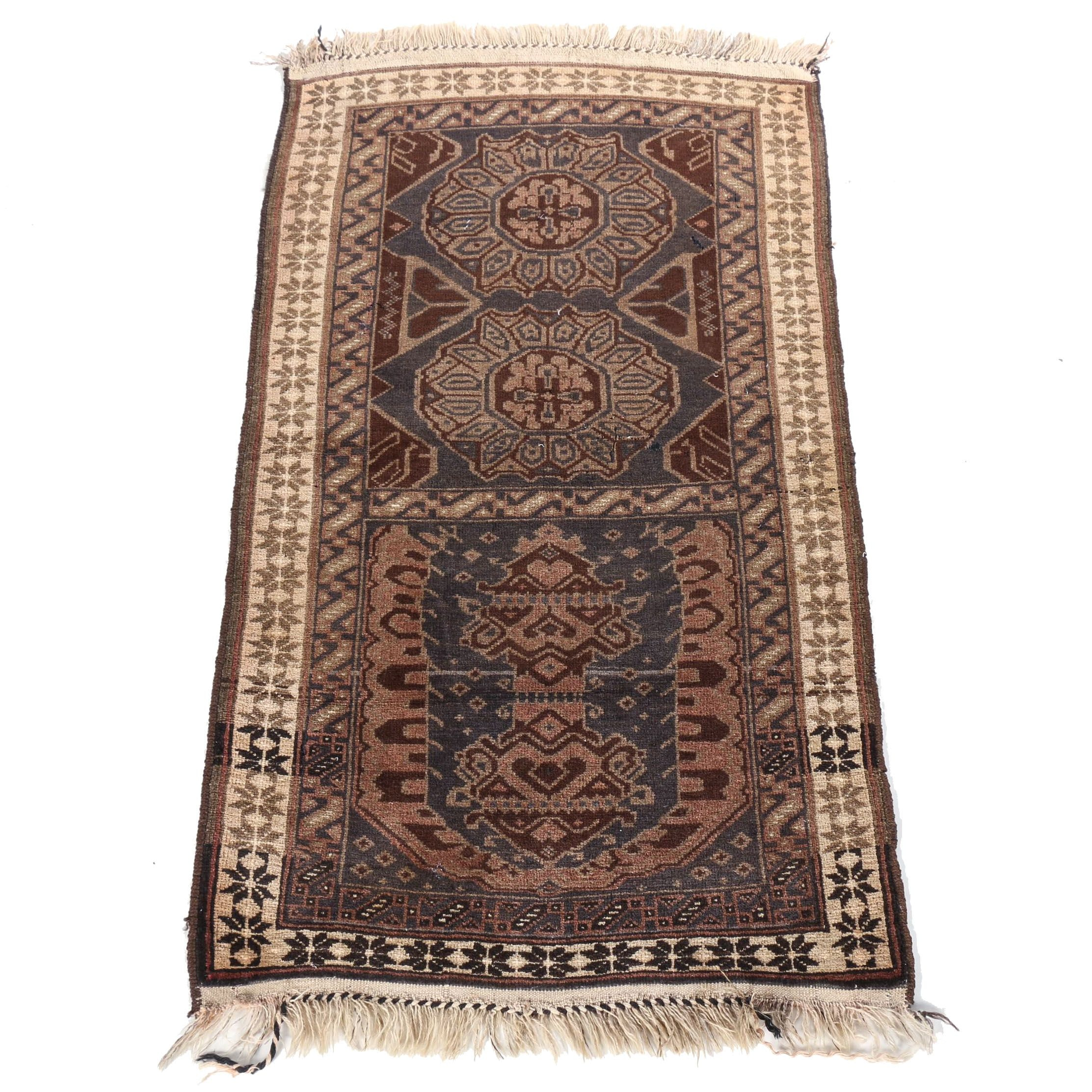 Hand-Knotted Afghan Baluch Area Rug