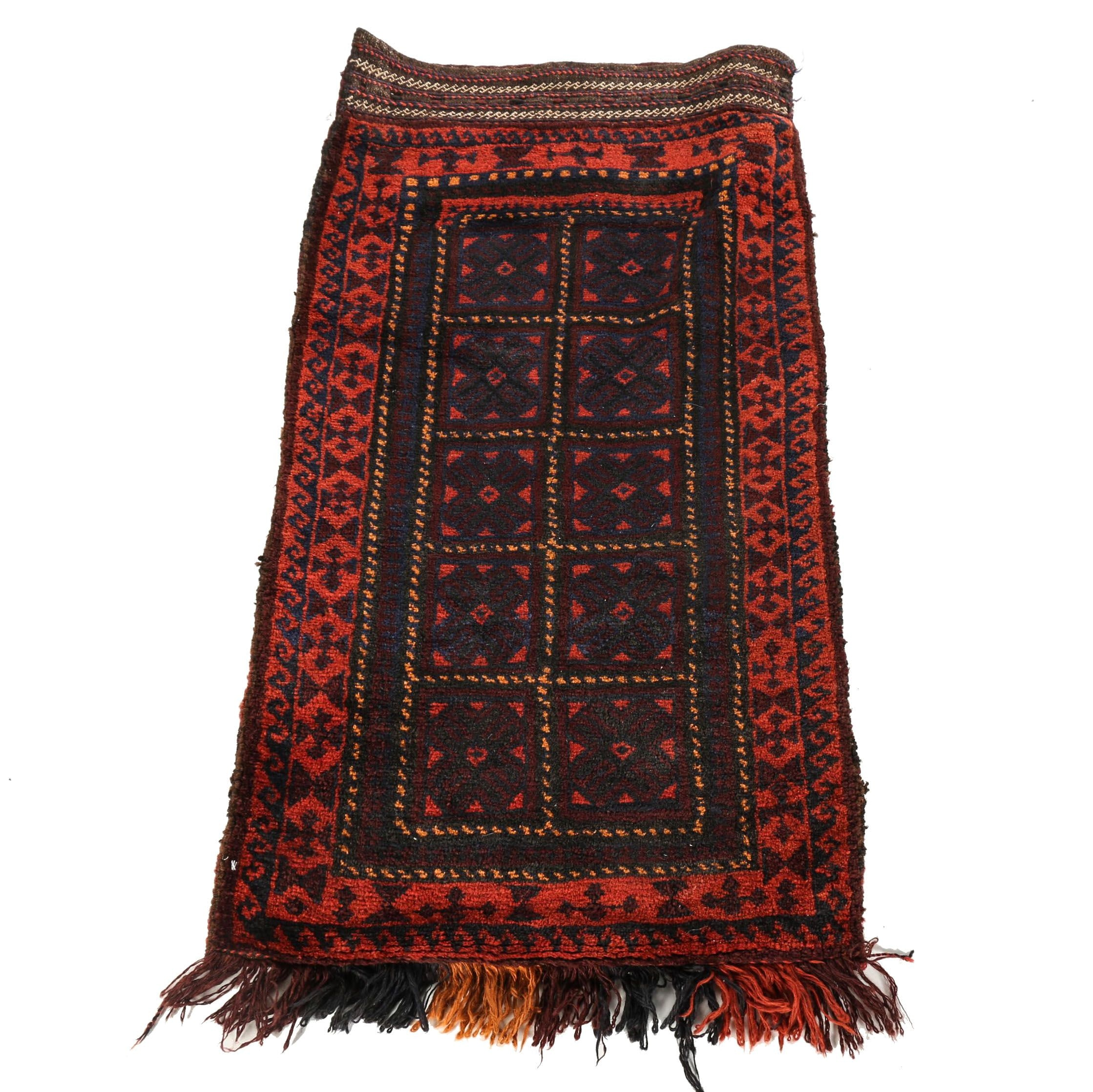Hand-Knotted Baluch Accent Rug