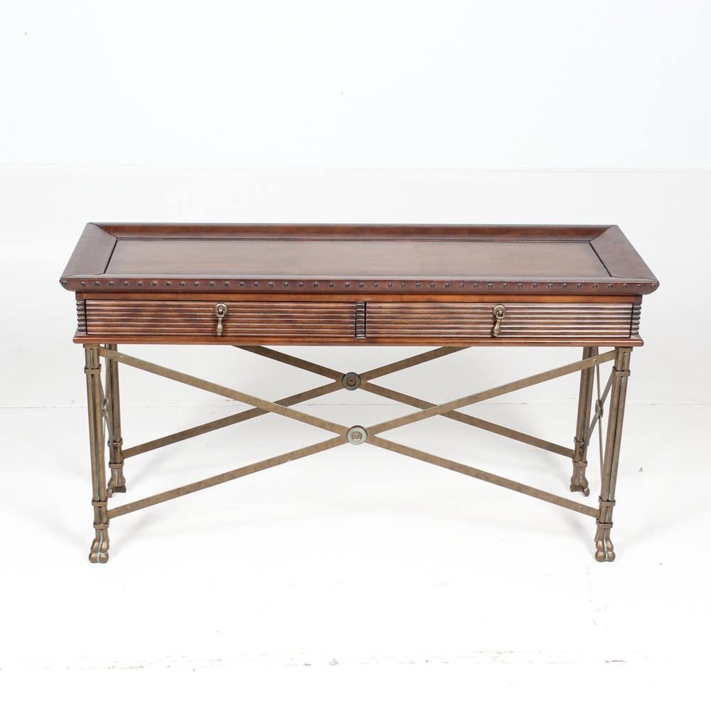 Wood and Metal Hall Table EBTH