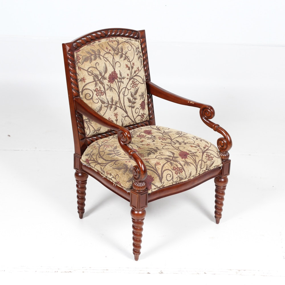 Cherry Finished Accent Chair