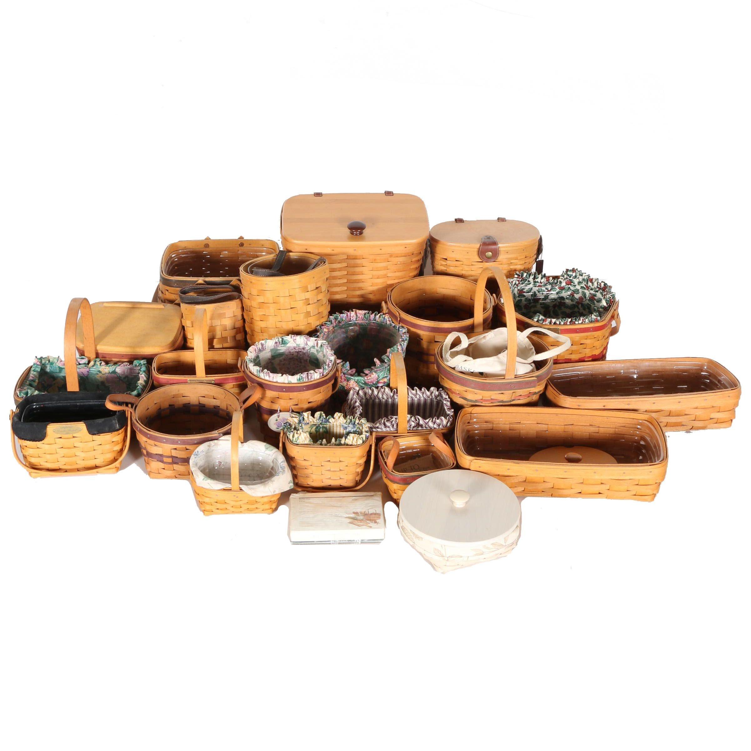 Large Assortment of Longaberger Baskets