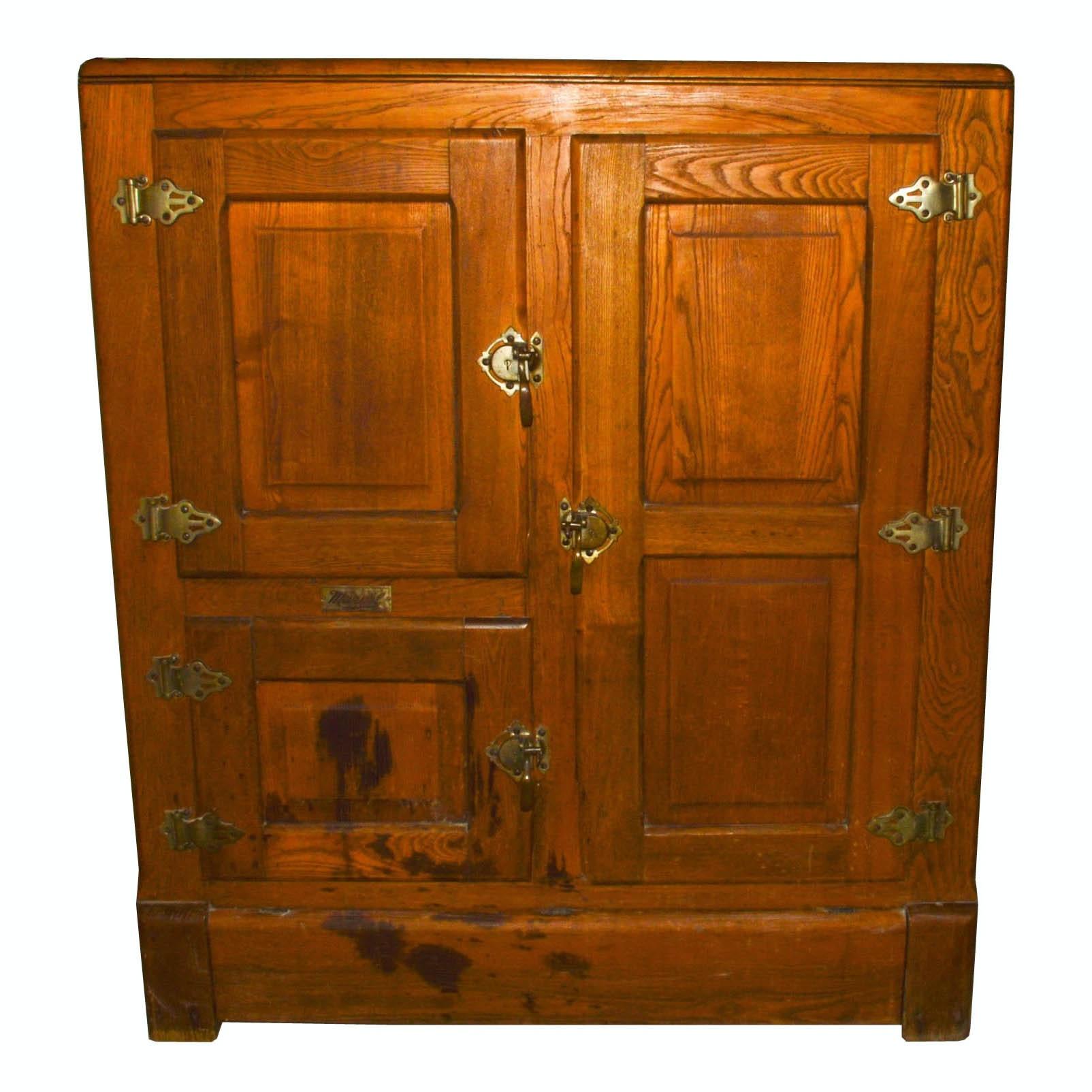 Early 20th Century Marvel Oak Ice Box