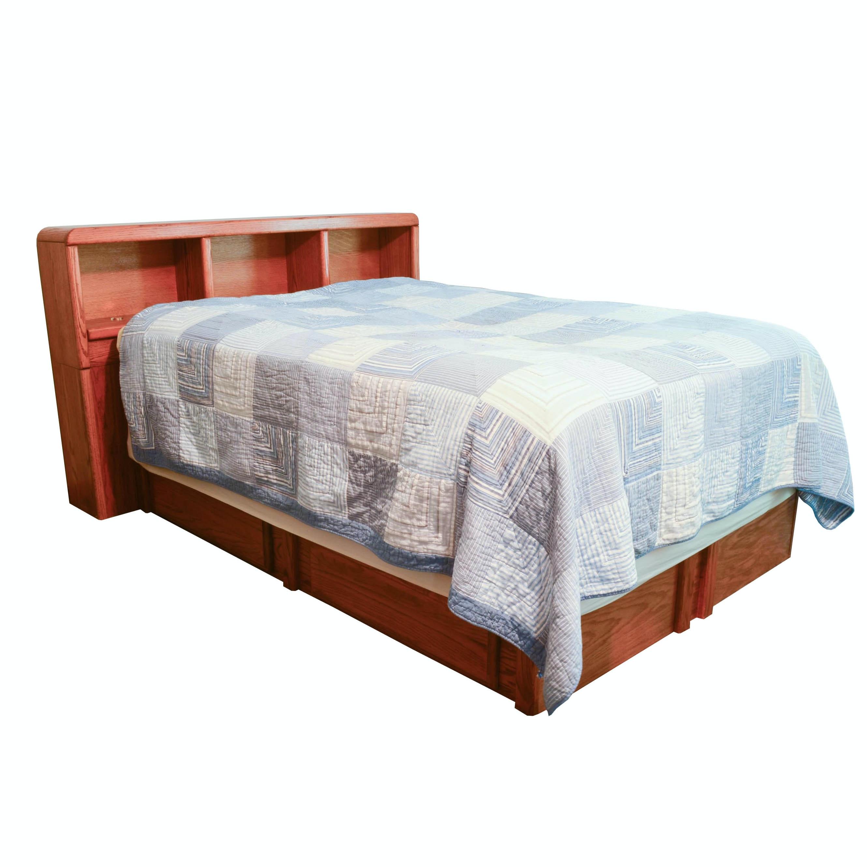 Oak Full-Size Captain's Bed