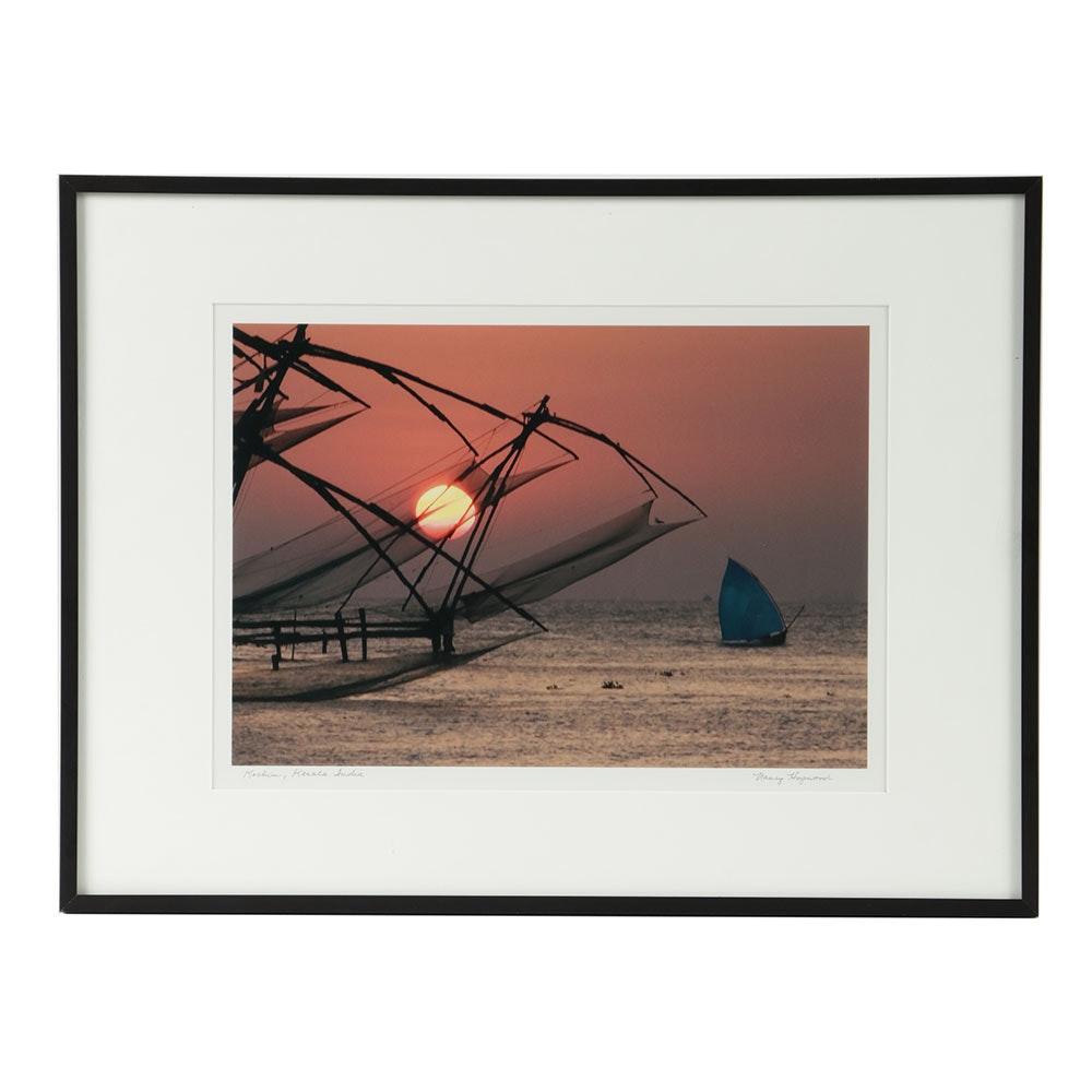 "Nancy Hopwood Chromogenic Photograph on Photo Paper ""Kerala, India"""