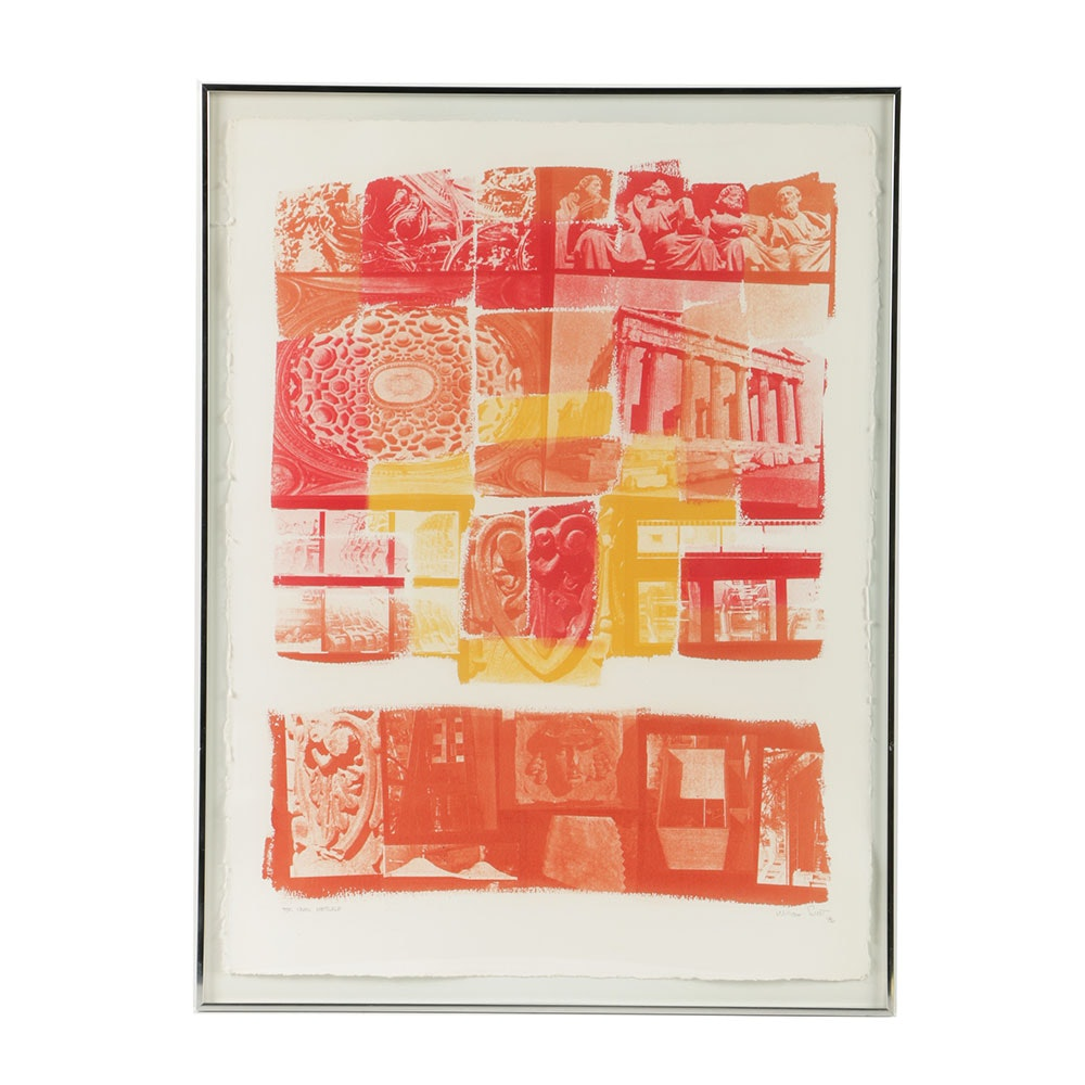 William Scott Photolithograph on Arches Paper of Classical Architectural Elements