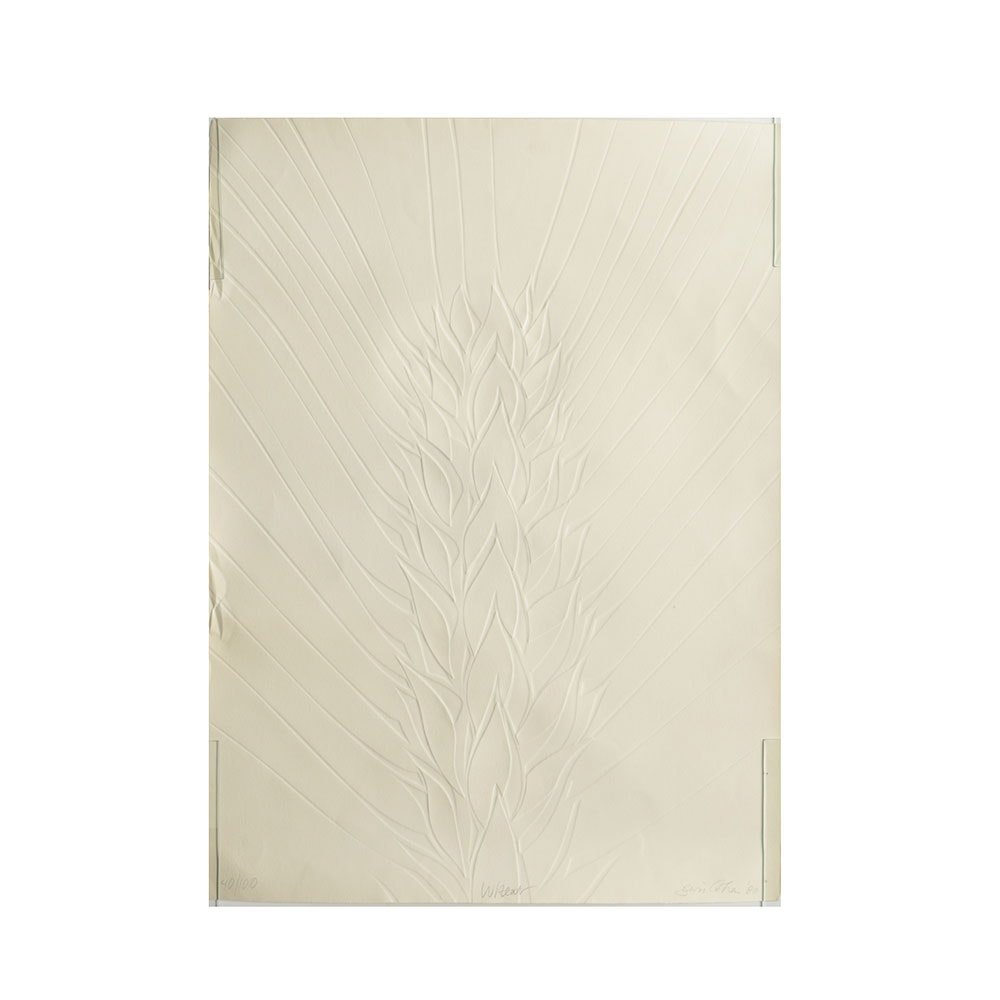 """S. Cohen Limited Edition Relief Print on Paper """"Wheat"""""""