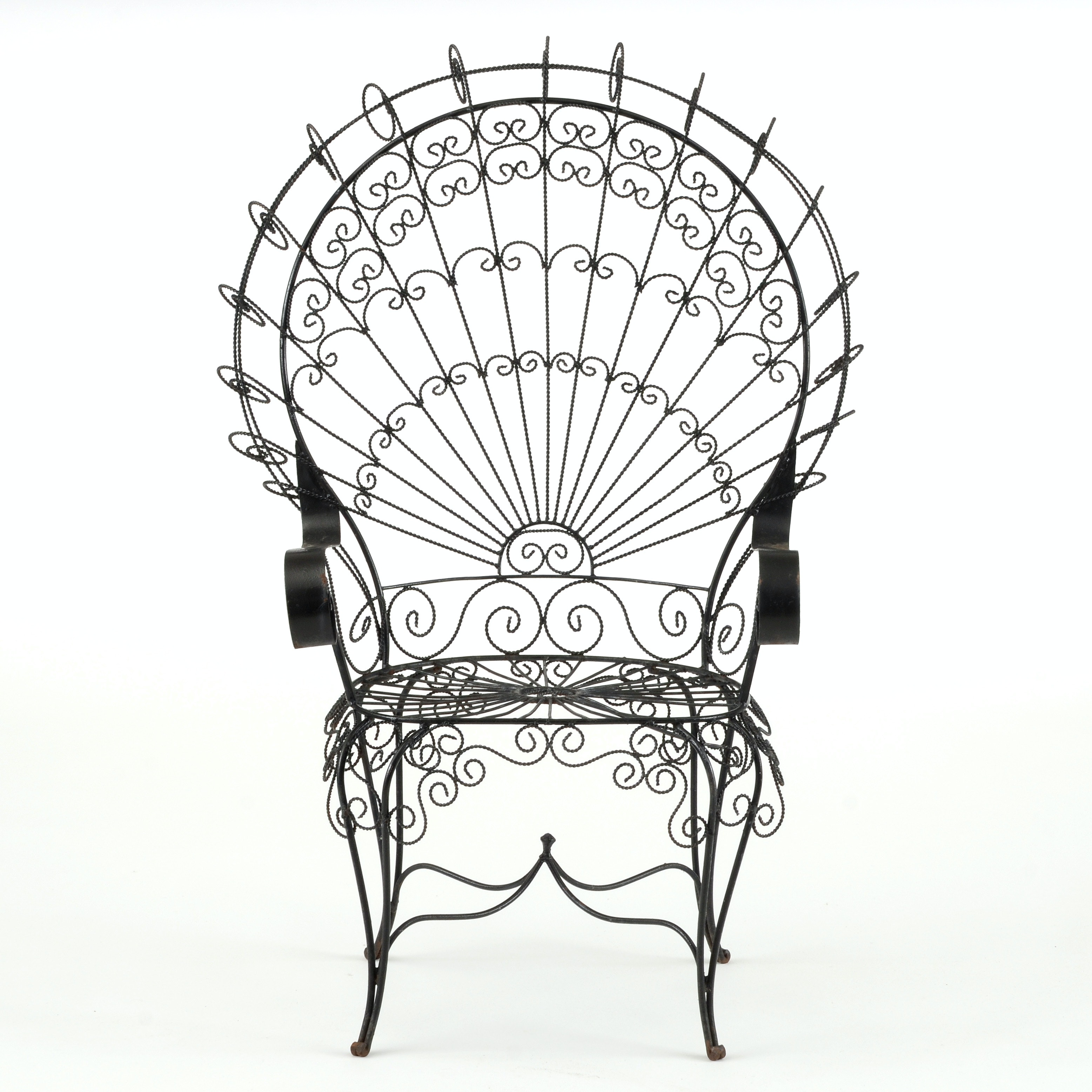 Wrought Iron Peacock Chair ...
