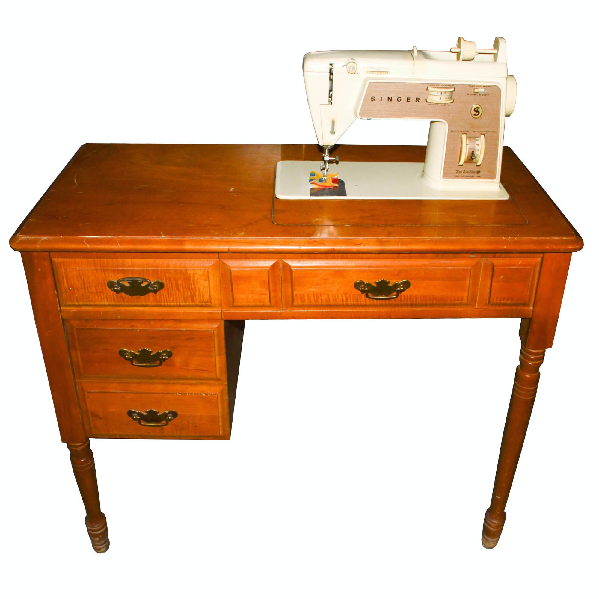 """Vintage Singer """"Touch & Sew"""" Sewing Machine and Table"""