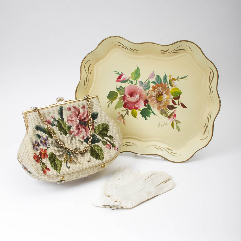 Collection of Vintage Floral Themed Items